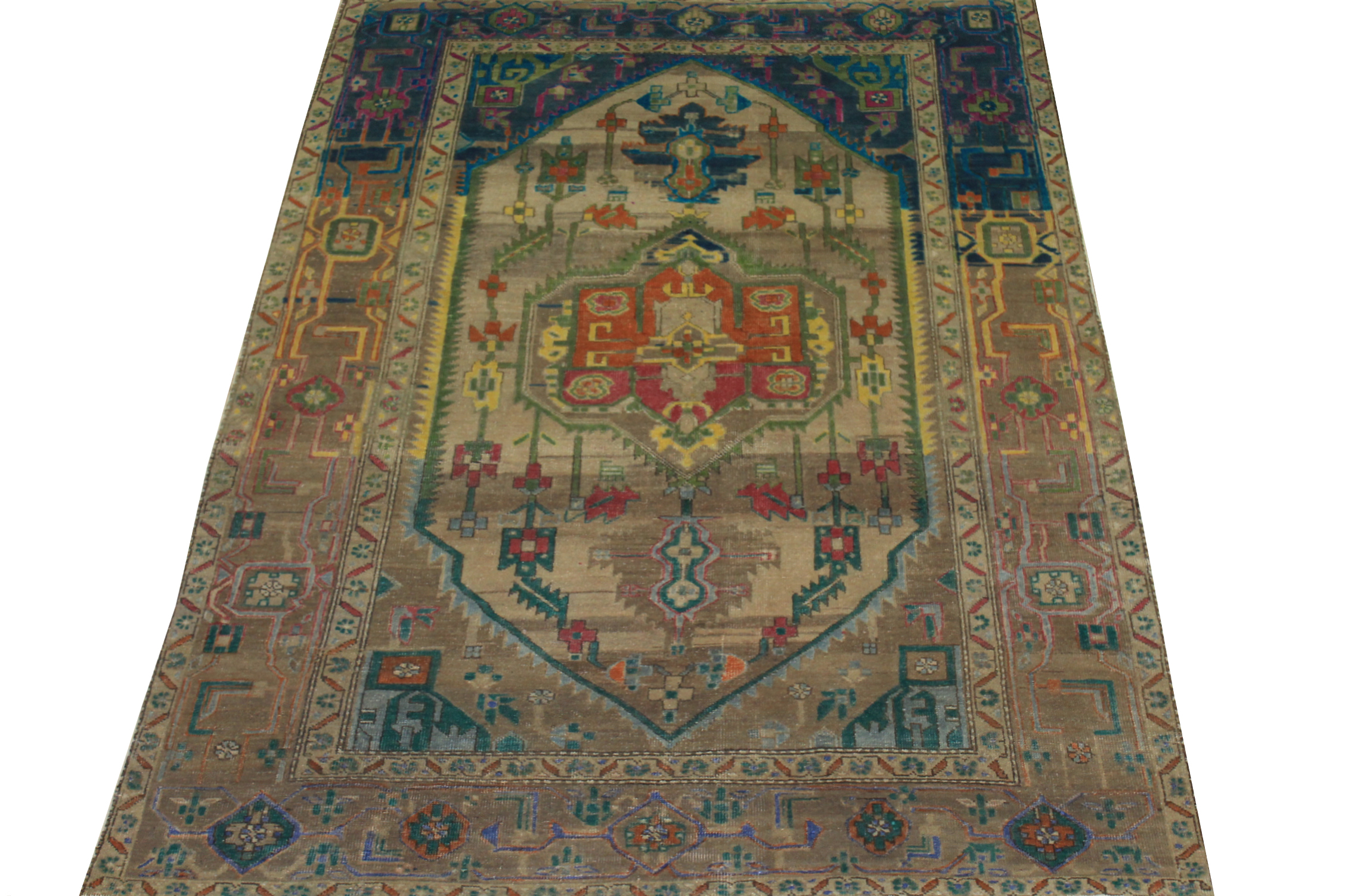 4x6 Vintage Hand Knotted Wool Area Rug - MR024471