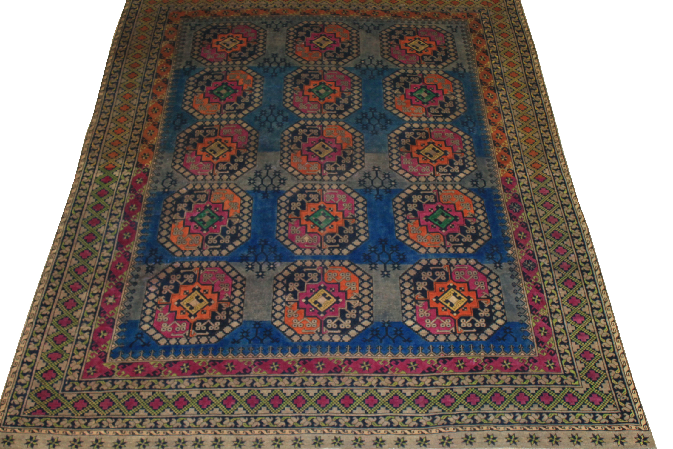 8x10 Vintage Hand Knotted Wool Area Rug - MR024472