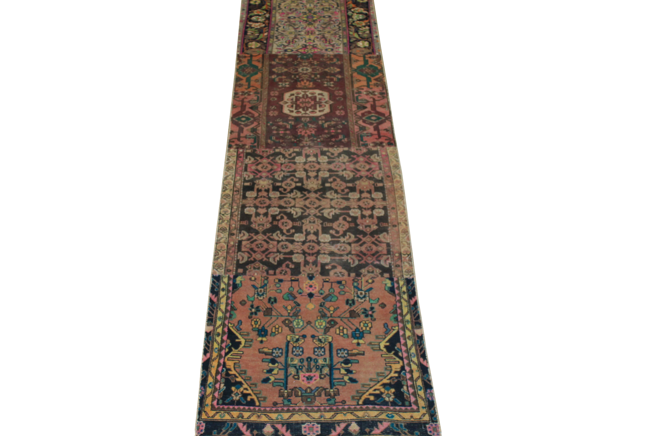 12 ft. Runner Vintage Hand Knotted Wool Area Rug - MR024506