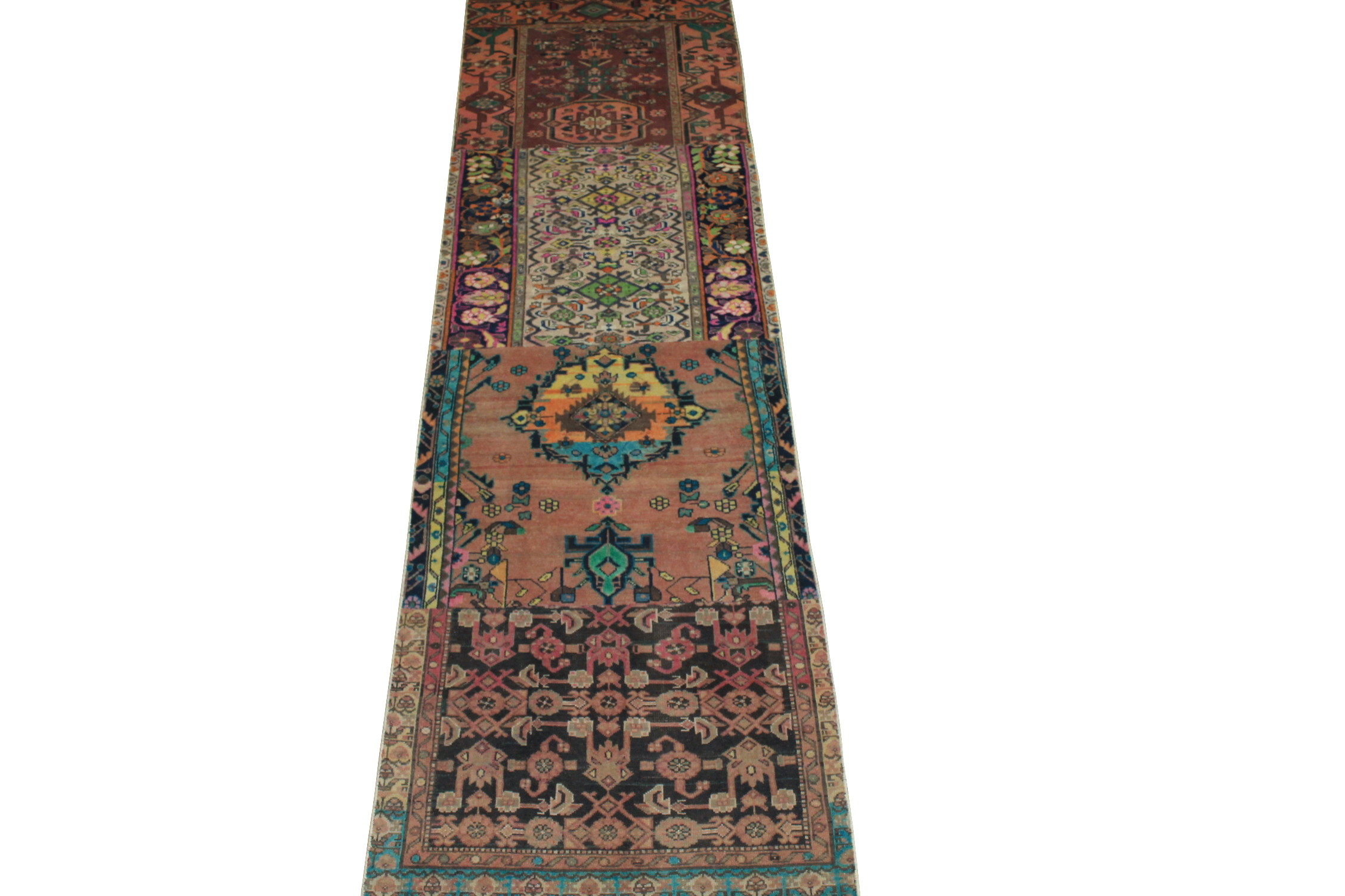 12 ft. Runner Vintage Hand Knotted Wool Area Rug - MR024507