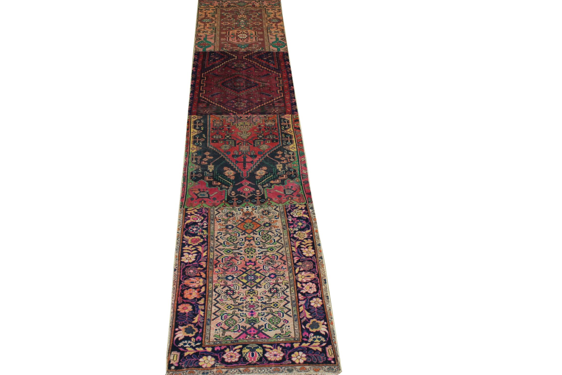 13 ft. & Longer Runner Vintage Hand Knotted Wool Area Rug - MR024508