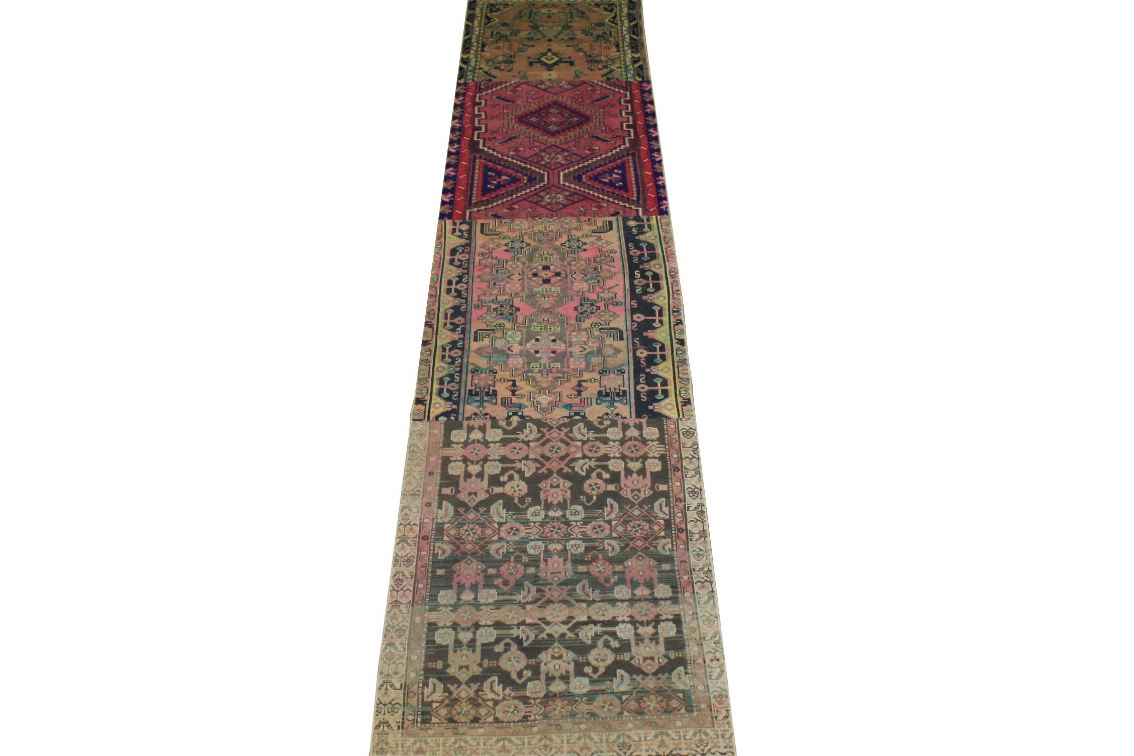 13 ft. & Longer Runner Vintage Hand Knotted Wool Area Rug - MR024509