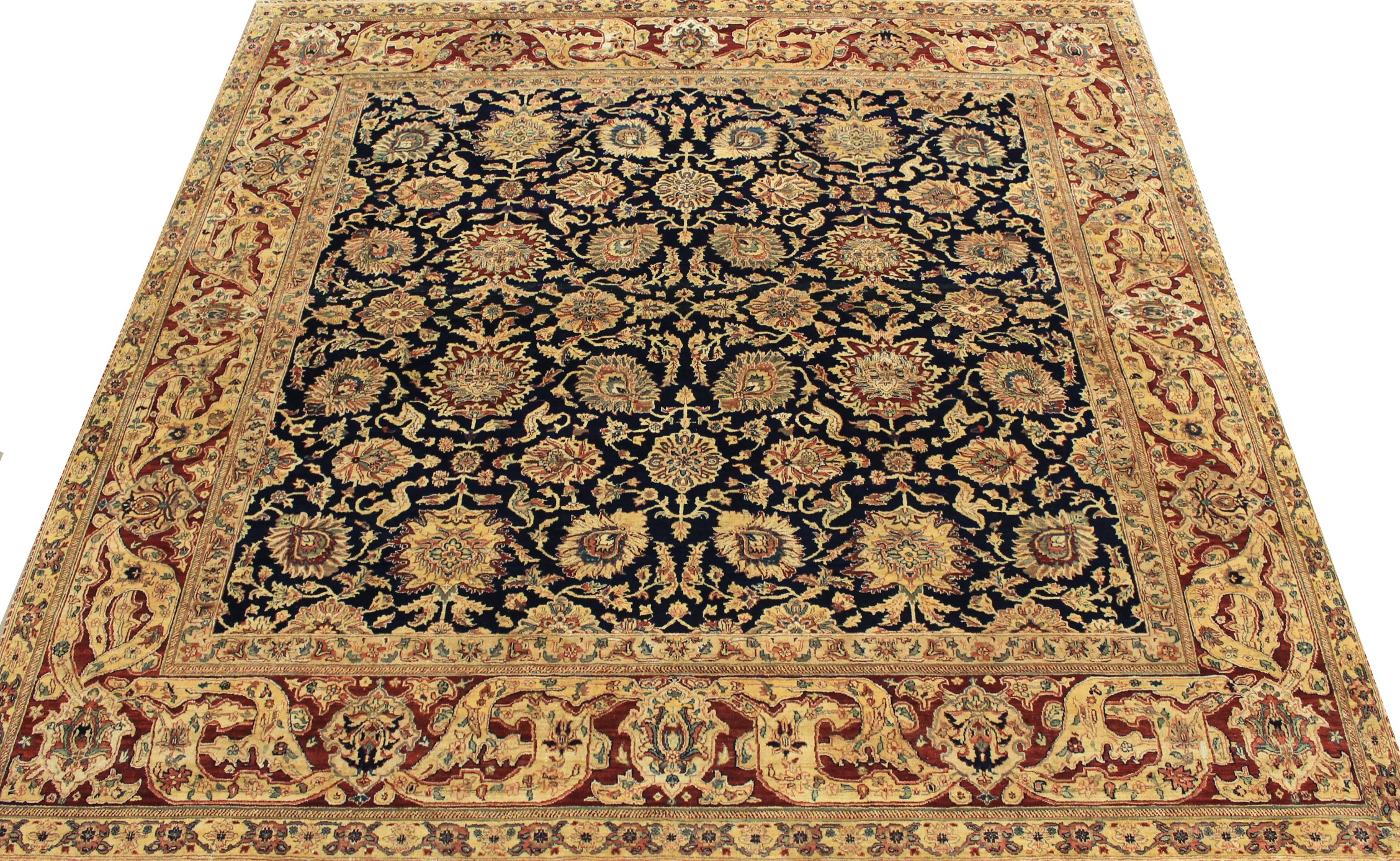 9 ft. & Over Round & Square Traditional Hand Knotted Wool Area Rug - MR024516