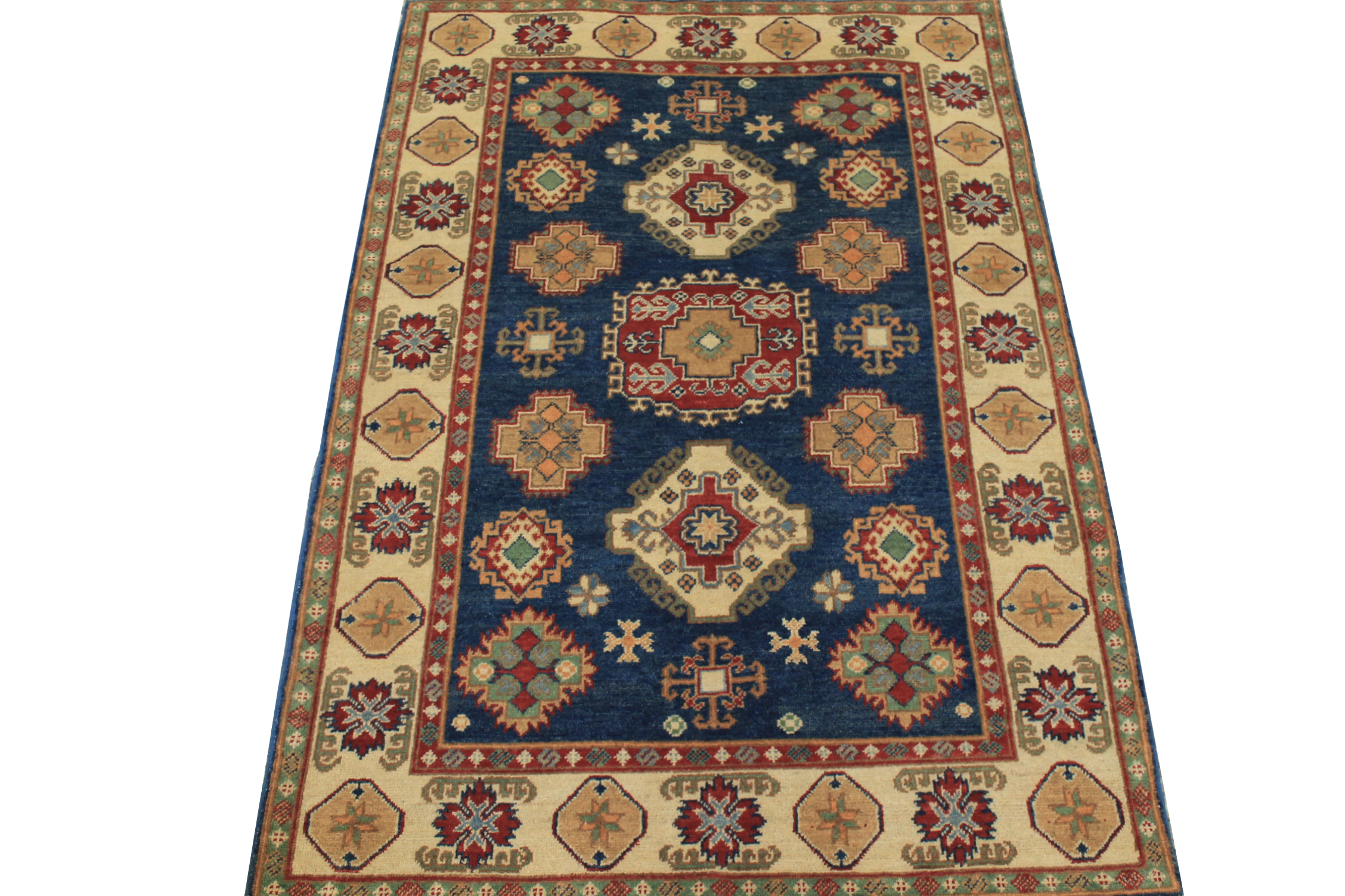 4x6 Kazak Hand Knotted Wool Area Rug - MR024535