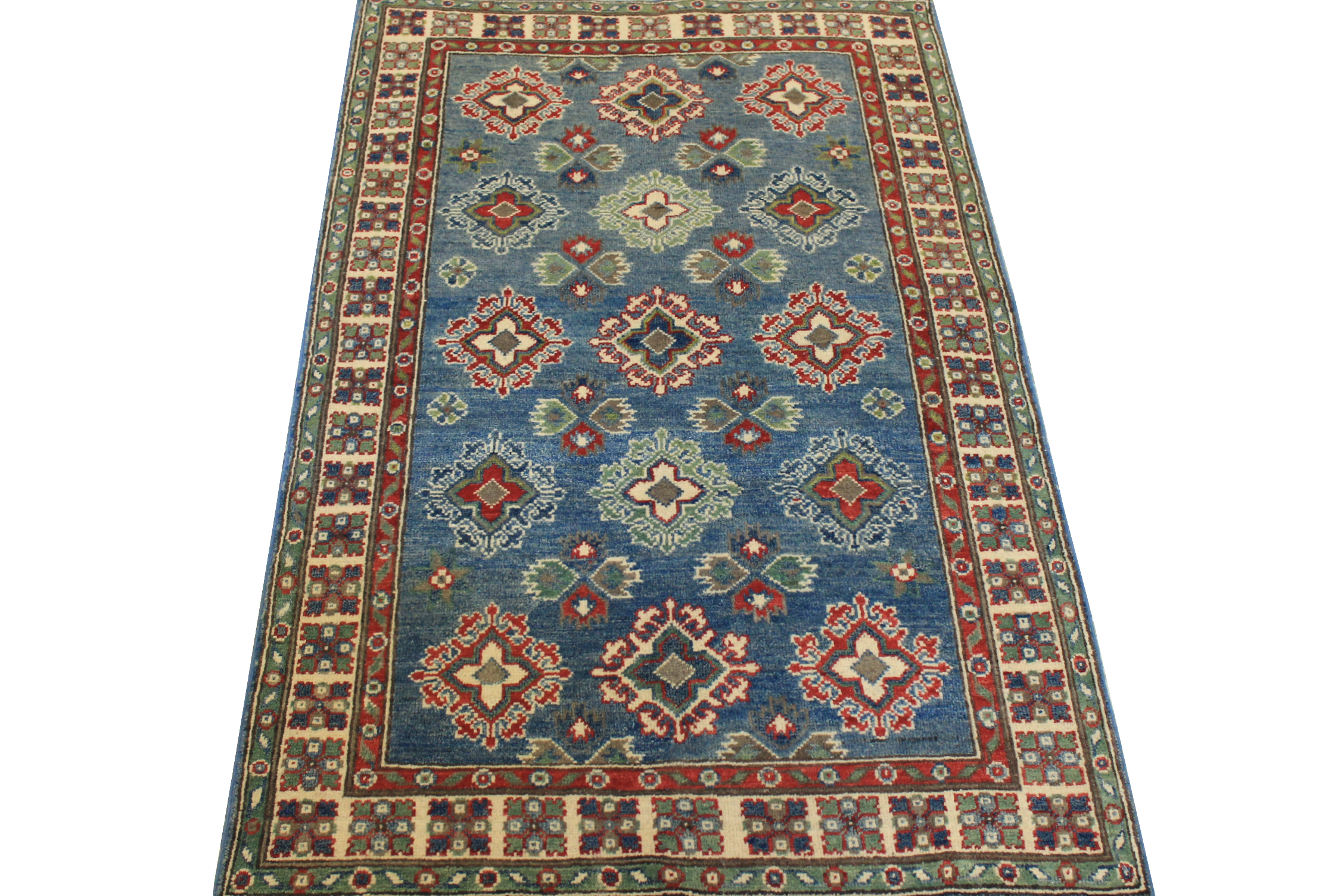 3x5 Kazak Hand Knotted Wool Area Rug - MR024539