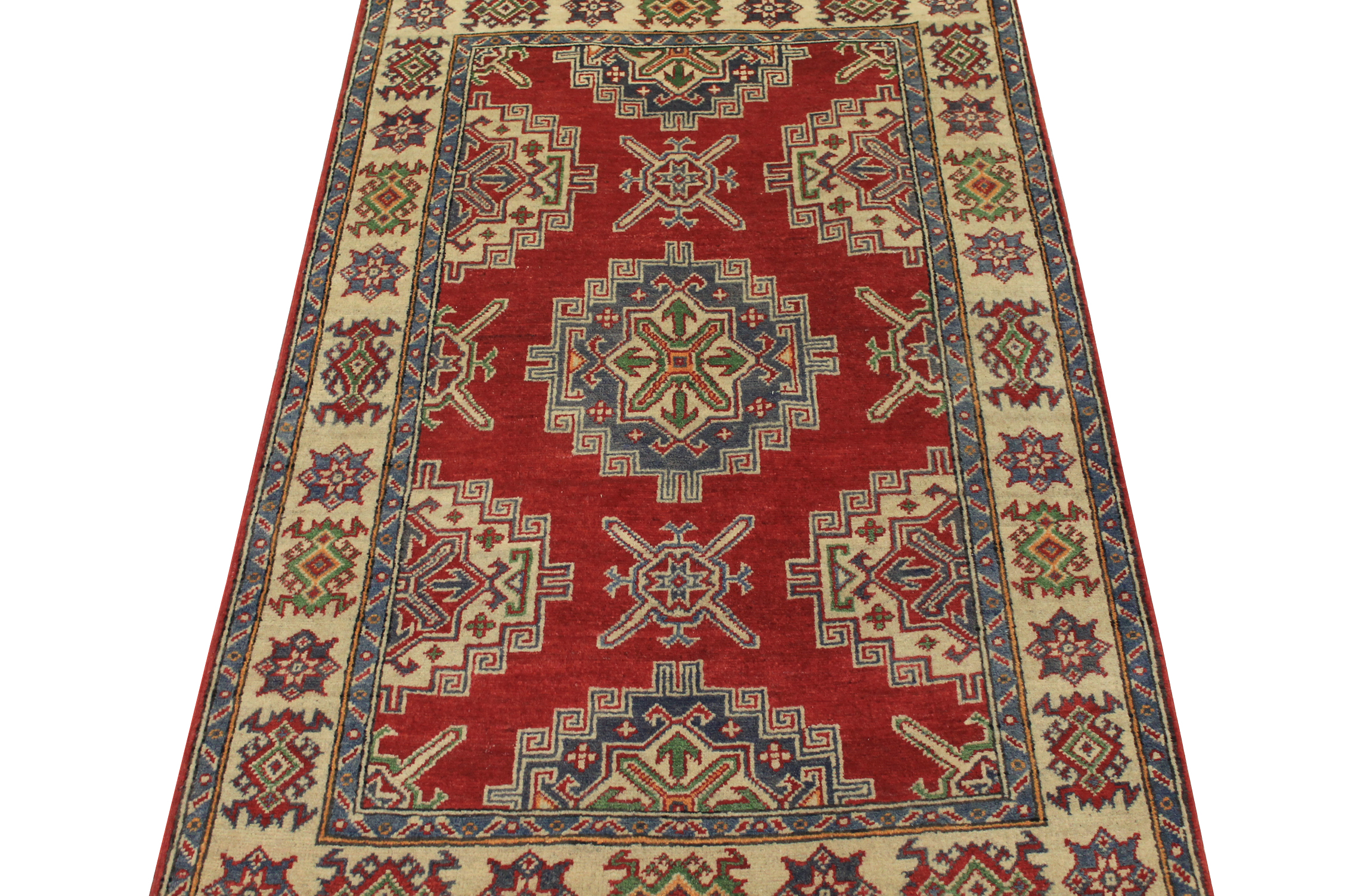 3x5 Kazak Hand Knotted Wool Area Rug - MR024540