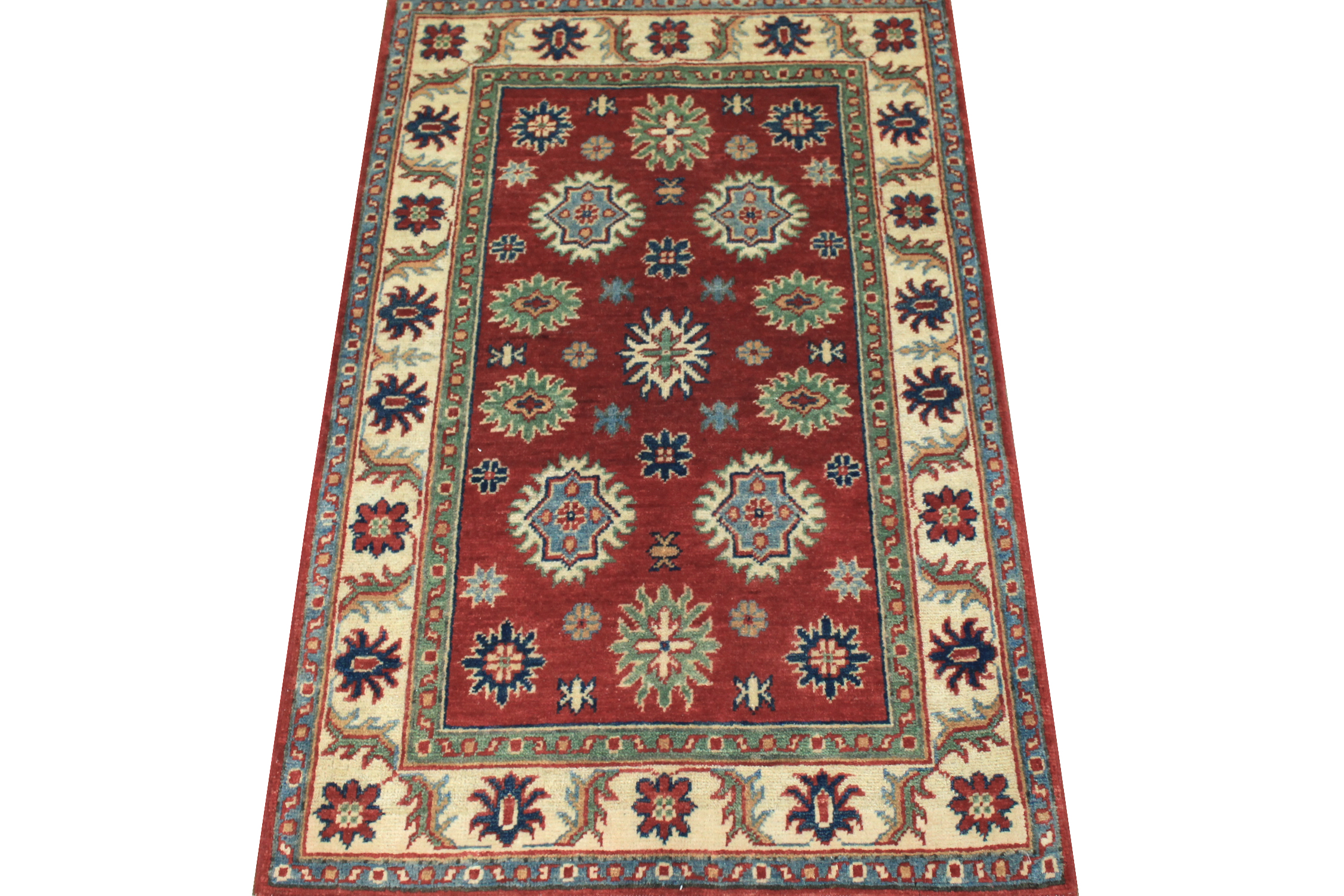 2X4 Kazak Hand Knotted Wool Area Rug - MR024542
