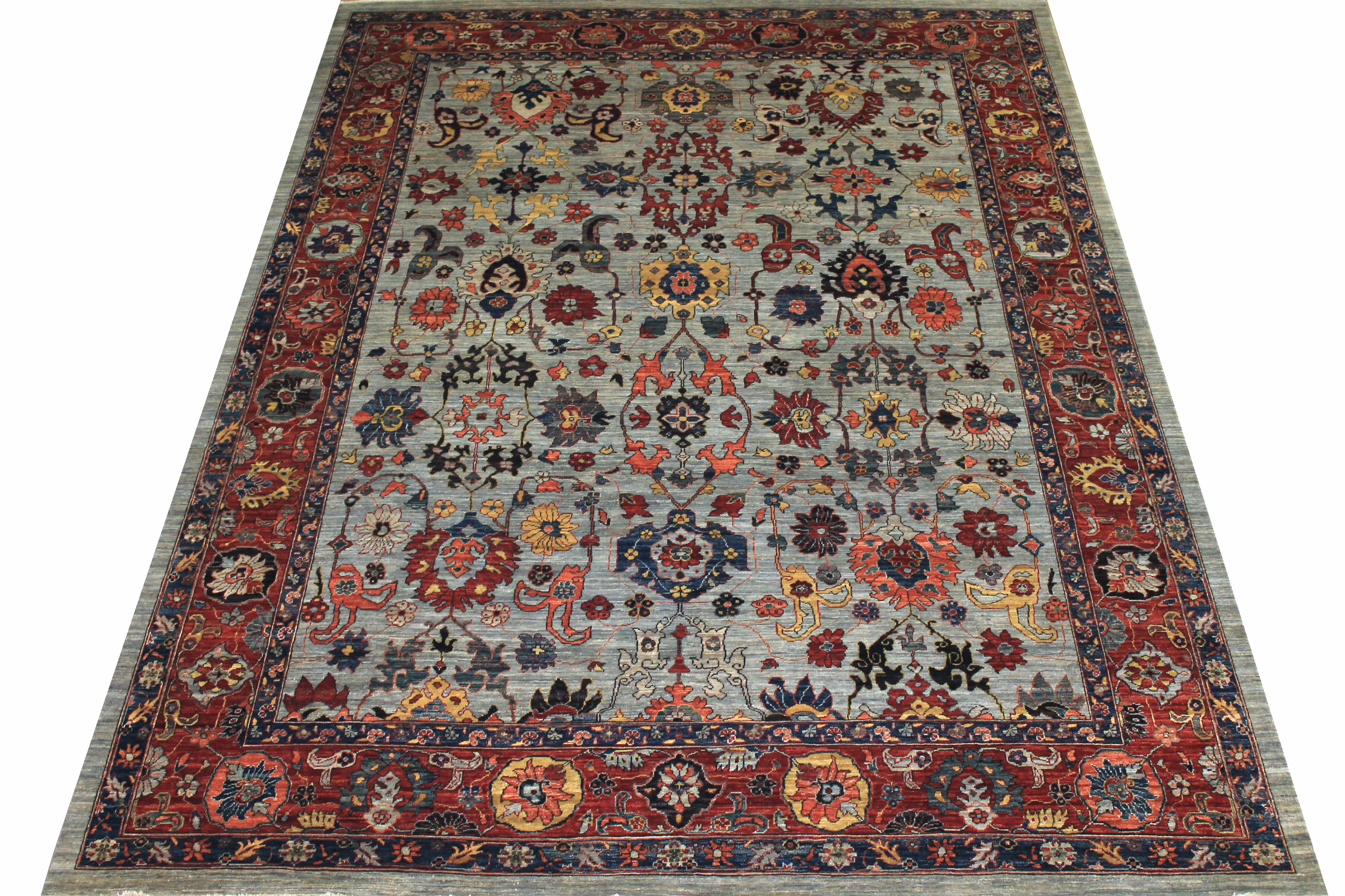 9x12 Antique Revival Hand Knotted Wool Area Rug - MR024560