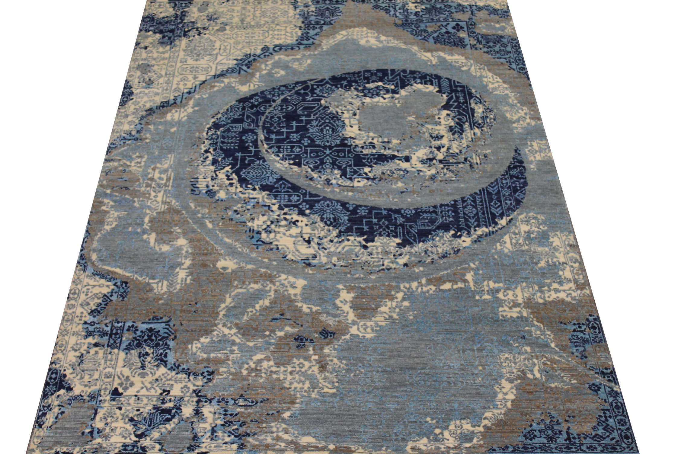 6x9 Transitional Hand Knotted Wool & Viscose Area Rug - MR024595