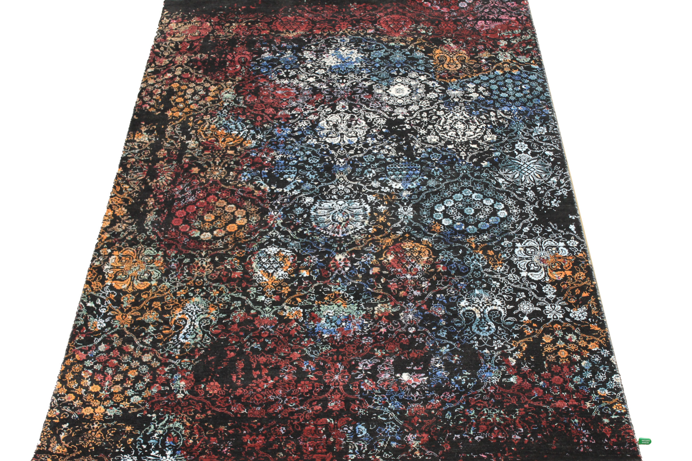 6x9 Transitional Hand Knotted Wool & Viscose Area Rug - MR024596