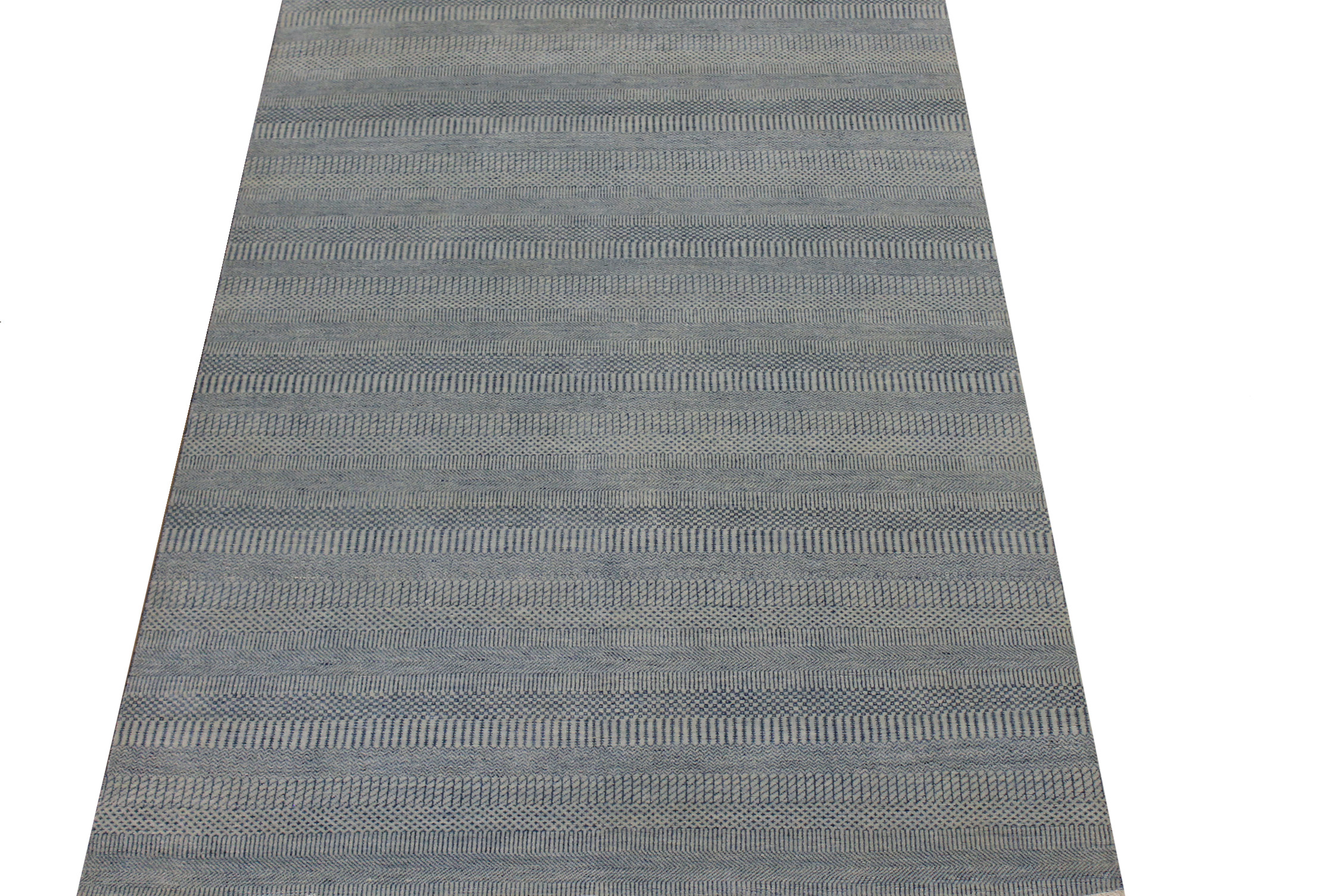 6x9 Casual Hand Knotted Wool & Viscose Area Rug - MR024599