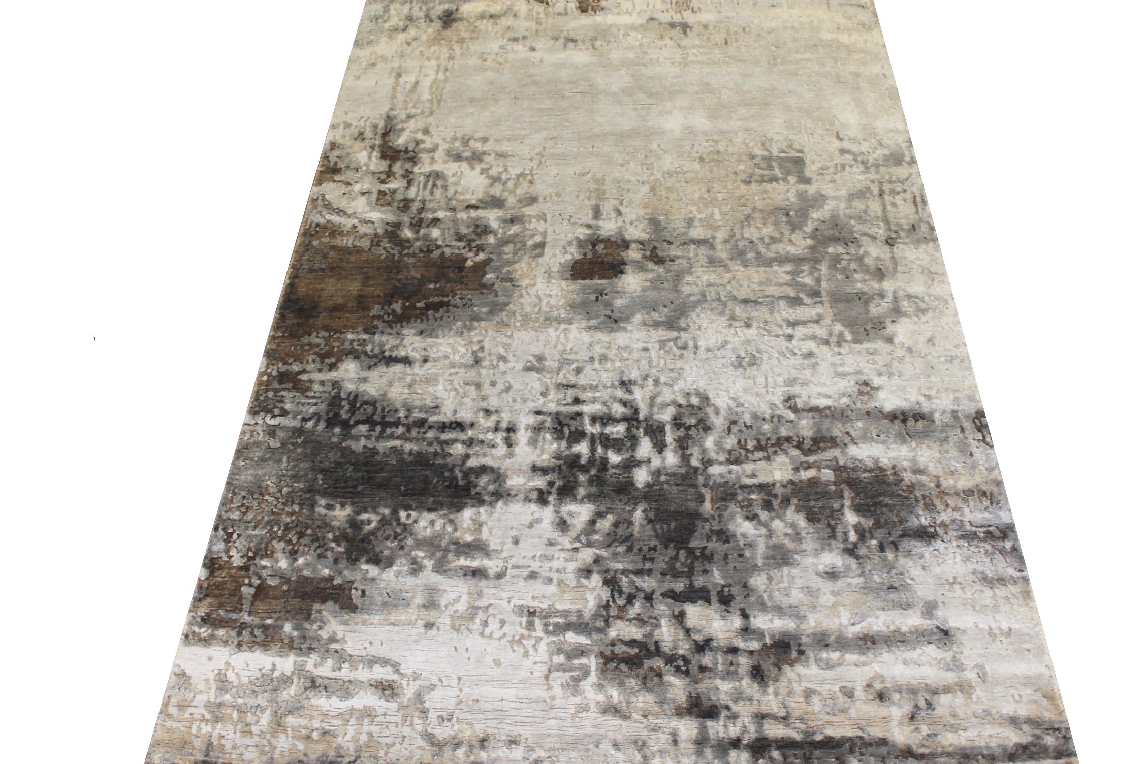 5x7/8 Modern Hand Knotted Wool & Bamboo Silk Area Rug - MR024645