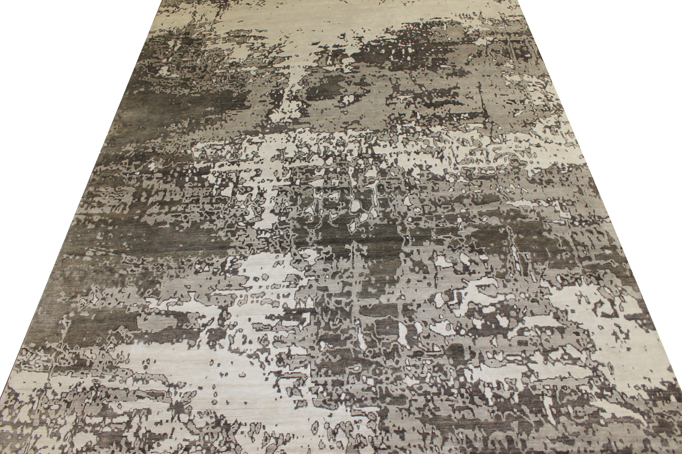 10x14 Modern Hand Knotted Wool & Bamboo Silk Area Rug - MR024647