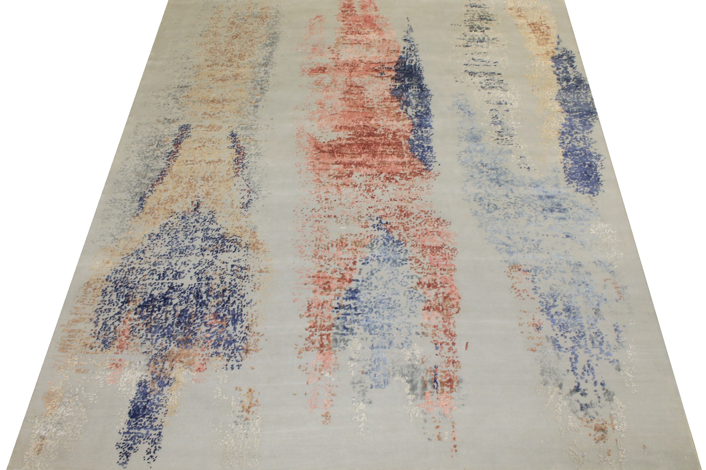 8x10 Modern Hand Knotted Wool & Bamboo Silk Area Rug - MR024660