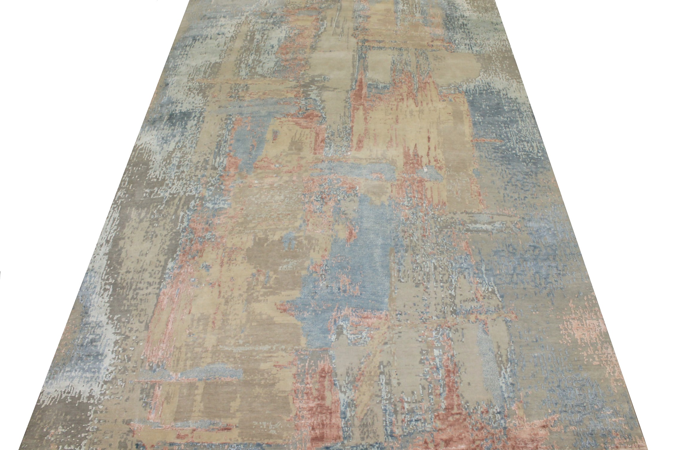 9x12 Modern Hand Knotted Wool & Bamboo Silk Area Rug - MR024663