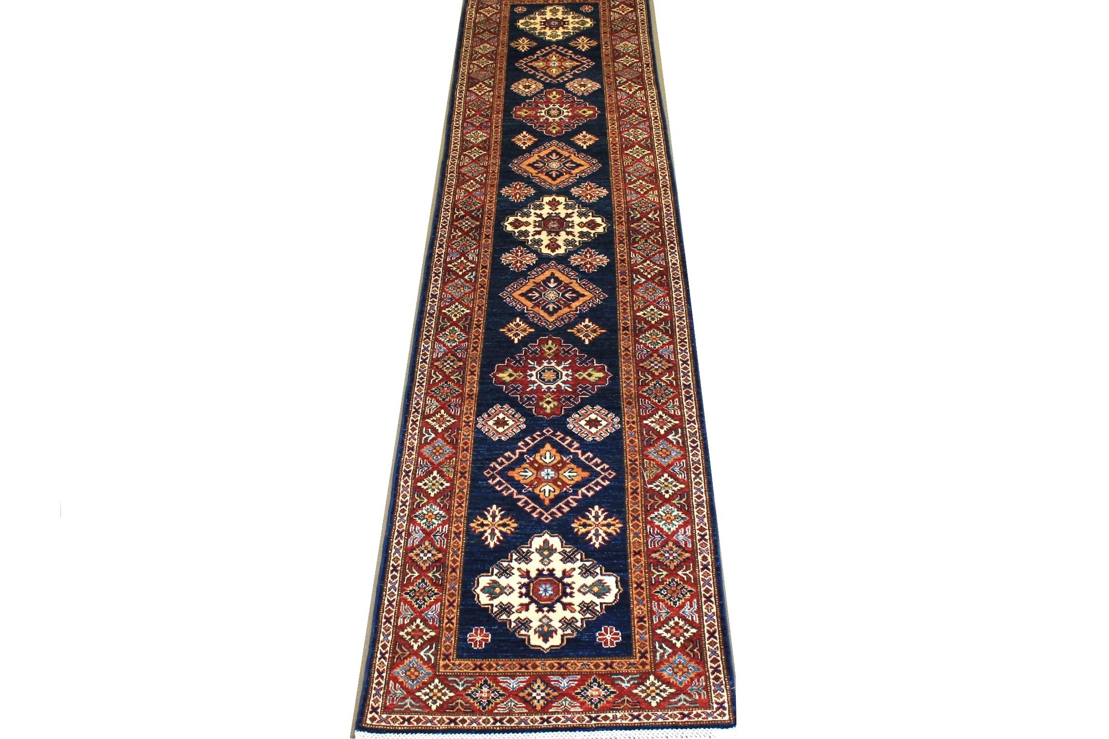 10 ft. Runner Kazak Hand Knotted Wool Area Rug - MR024692