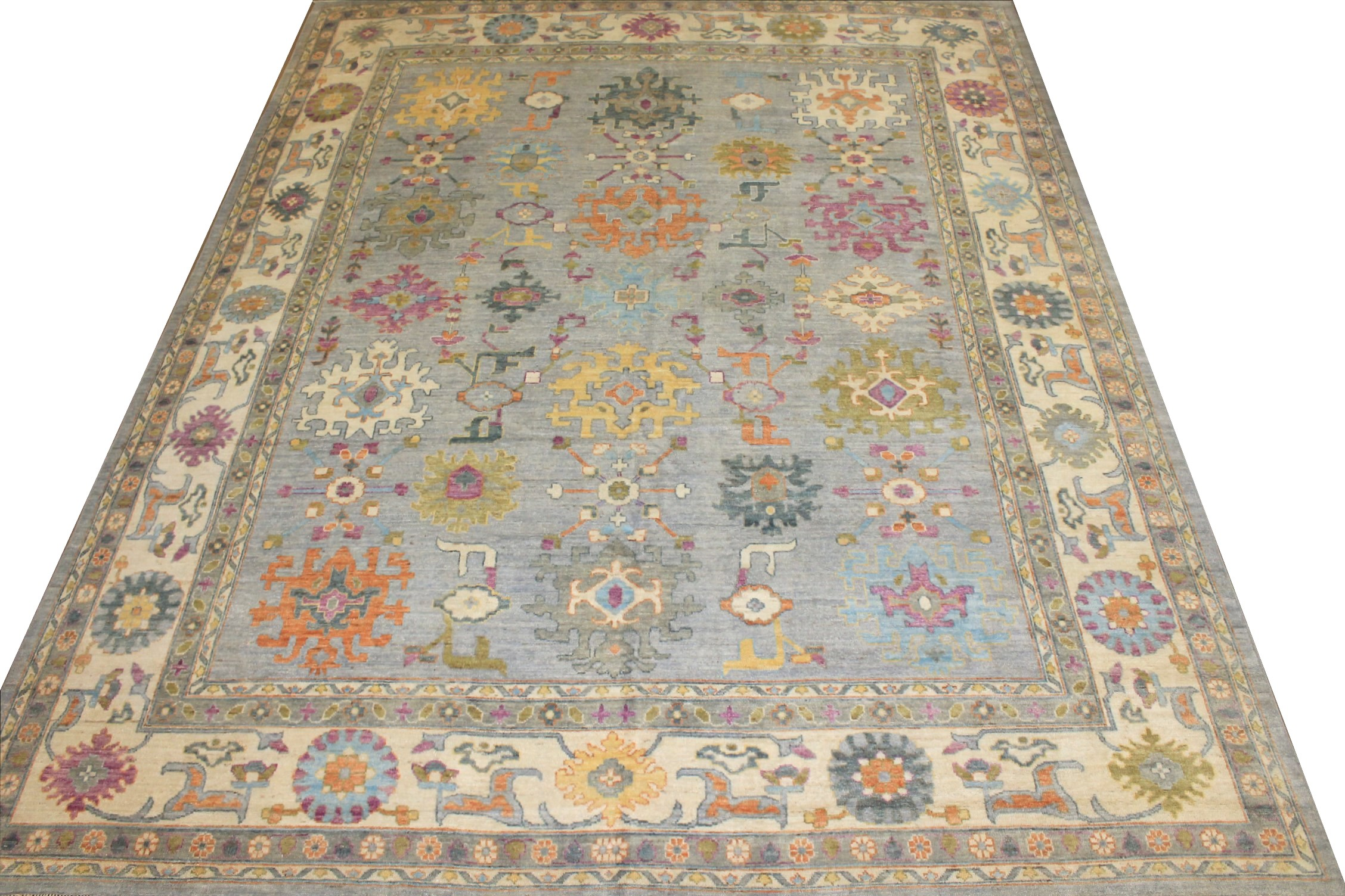 OVERSIZE Oushak Hand Knotted Wool Area Rug - MR024722