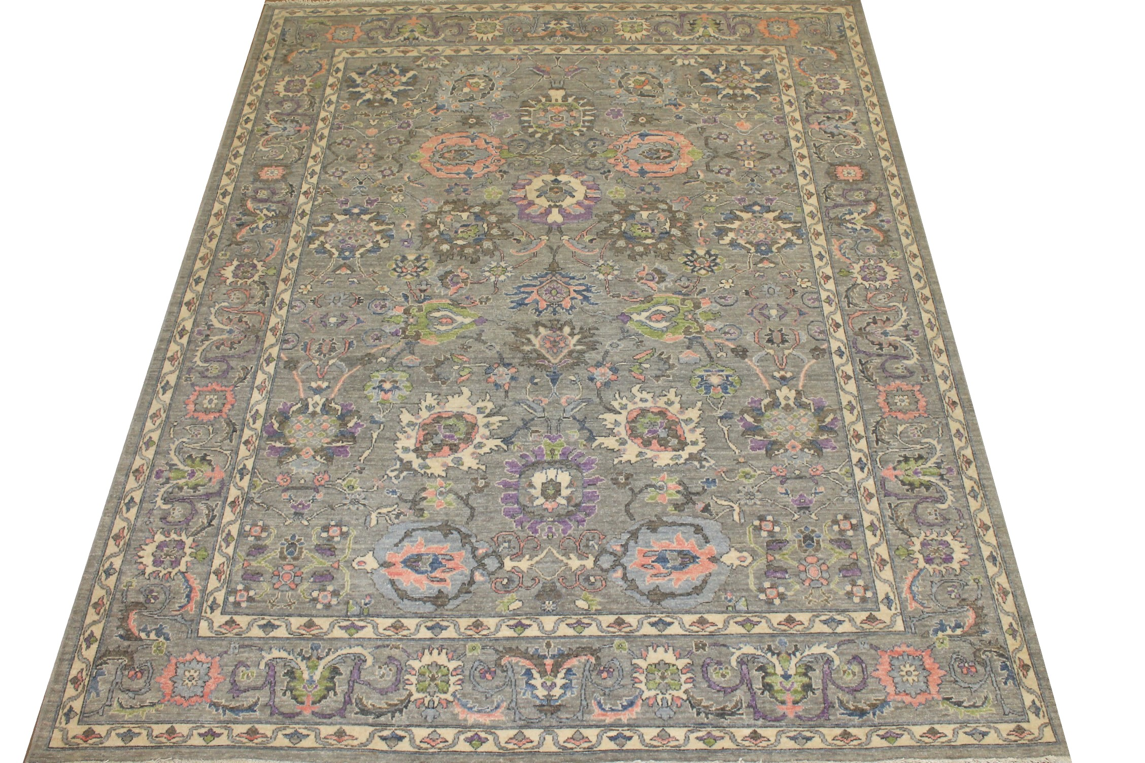 8x10 Peshawar Hand Knotted Wool Area Rug - MR024734