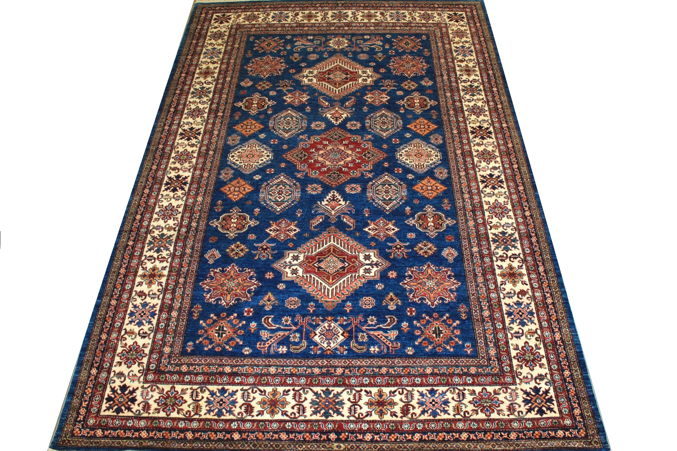 9x12 Kazak Hand Knotted Wool Area Rug - MR024735