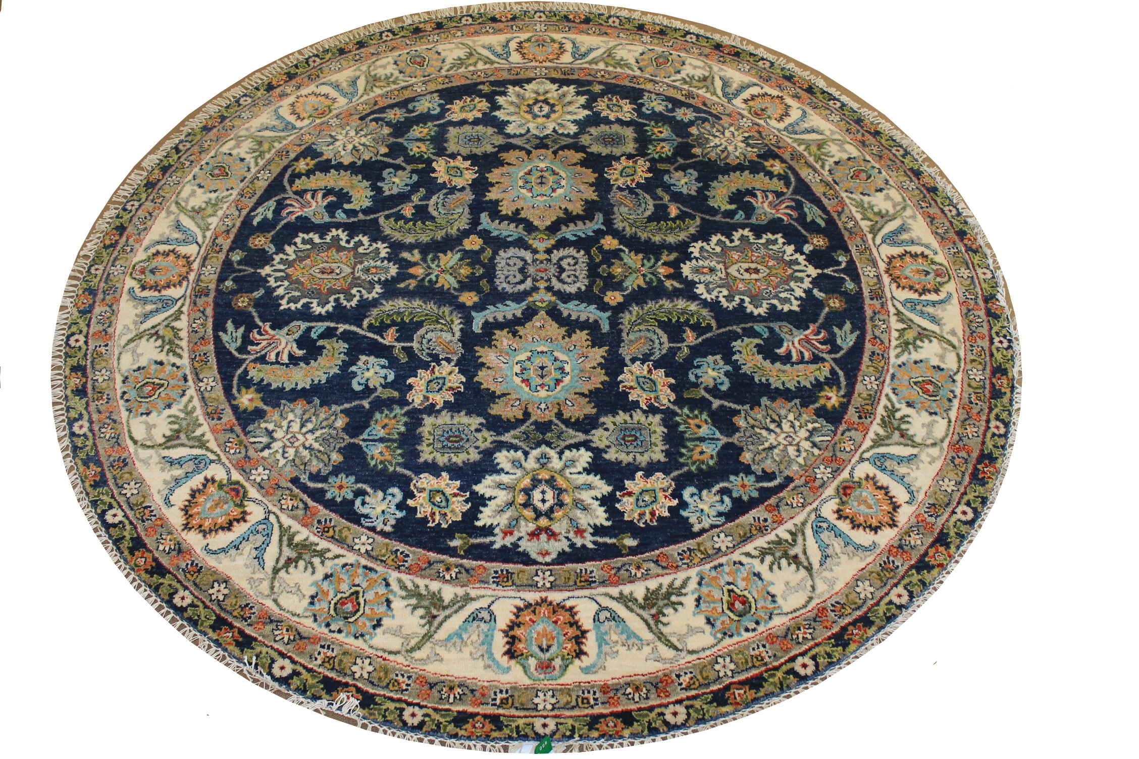 6 ft. - 7 ft. Round & Square Traditional Hand Knotted Wool Area Rug - MR024743