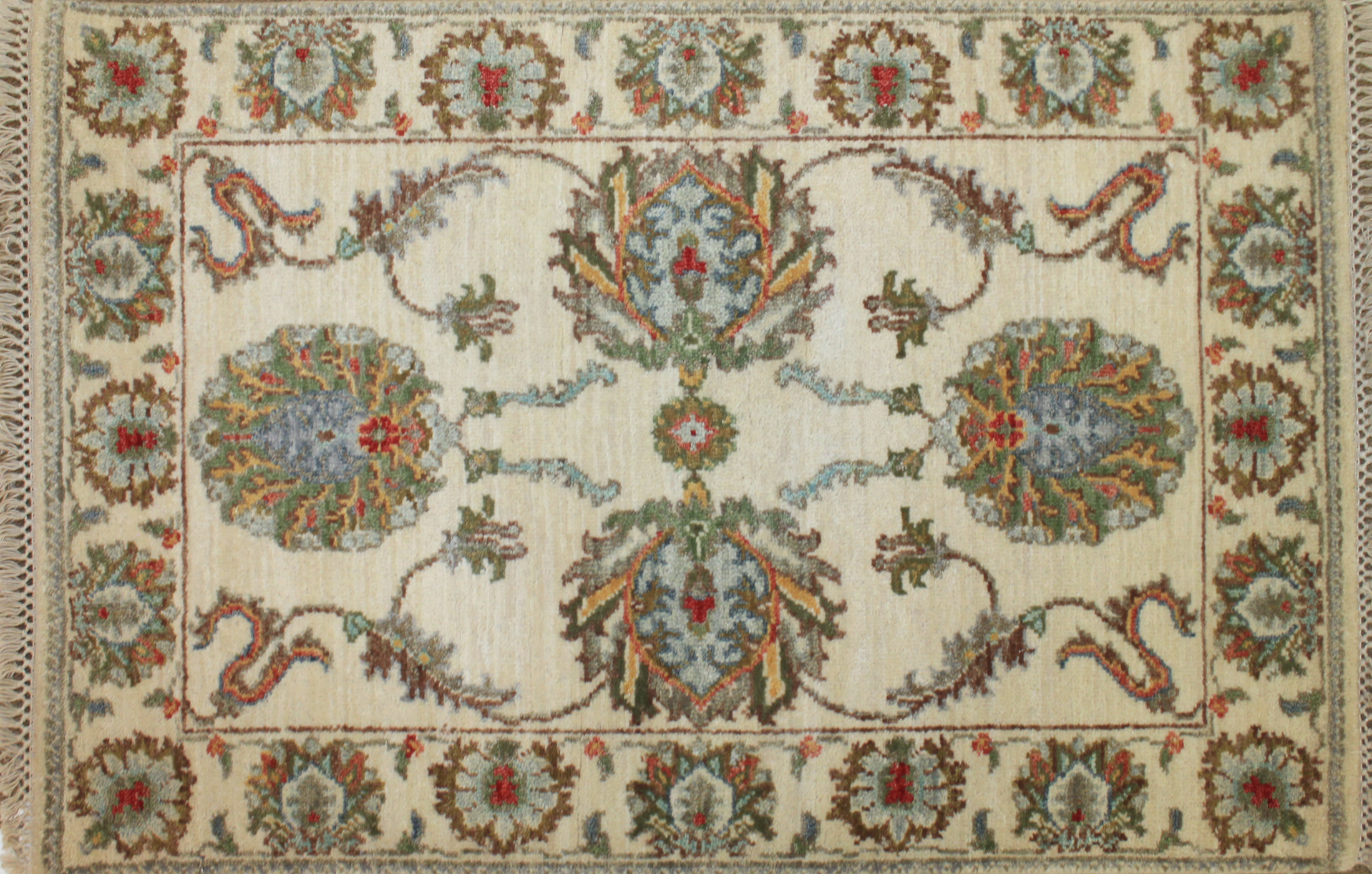 2X3 Traditional Hand Knotted Wool Area Rug - MR024758