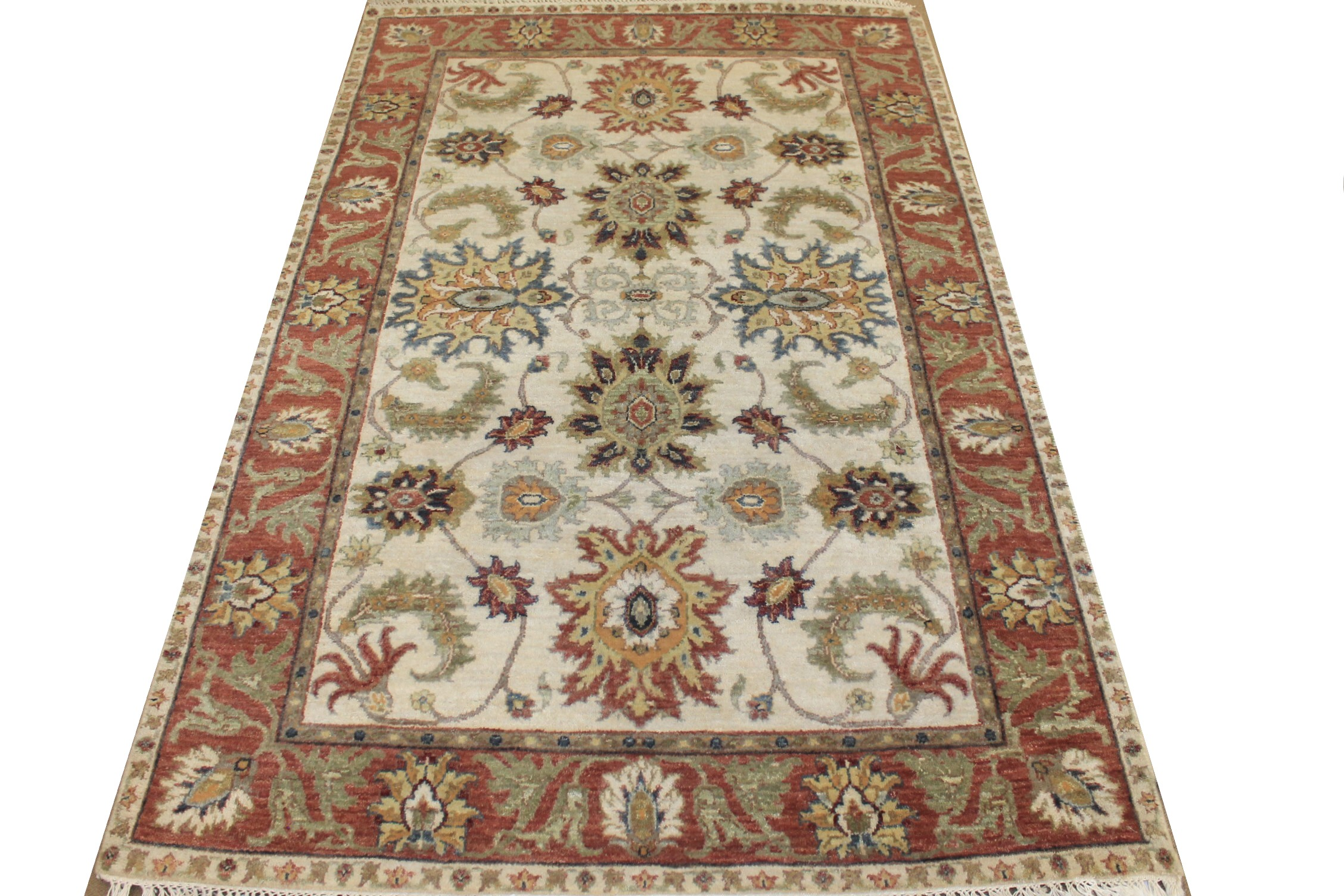4x6 Traditional Hand Knotted Wool Area Rug - MR024769
