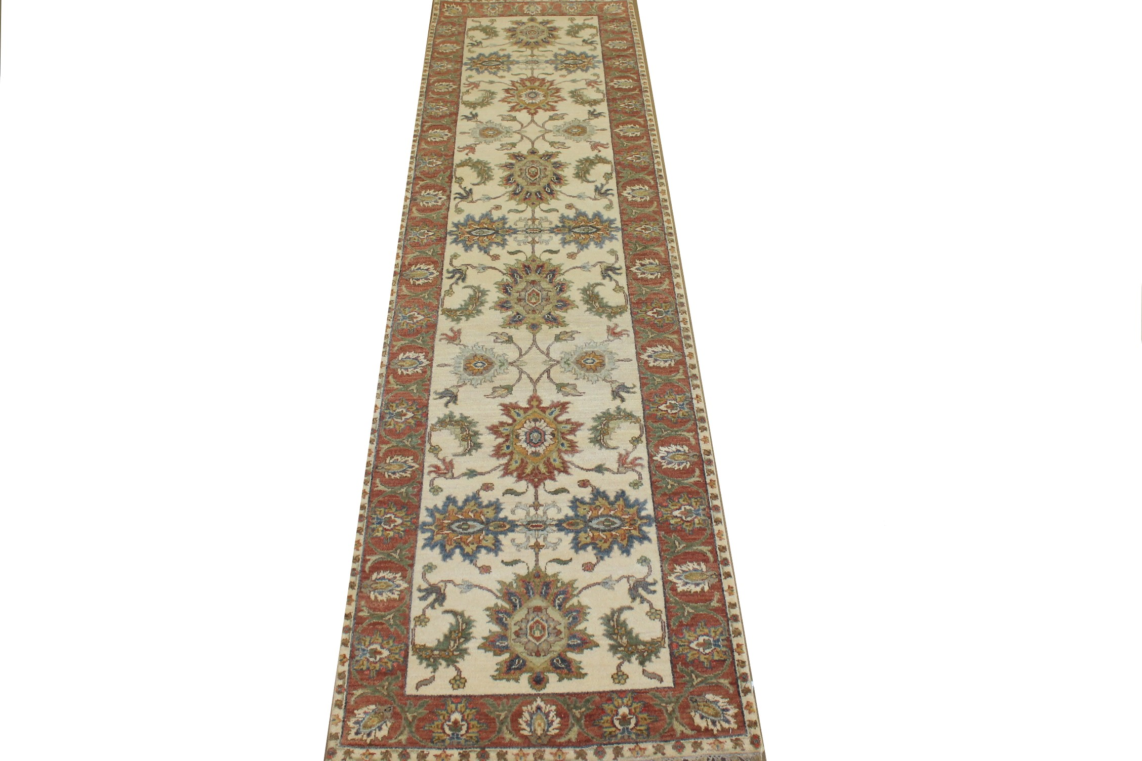 10 ft. Runner Traditional Hand Knotted Wool Area Rug - MR024776