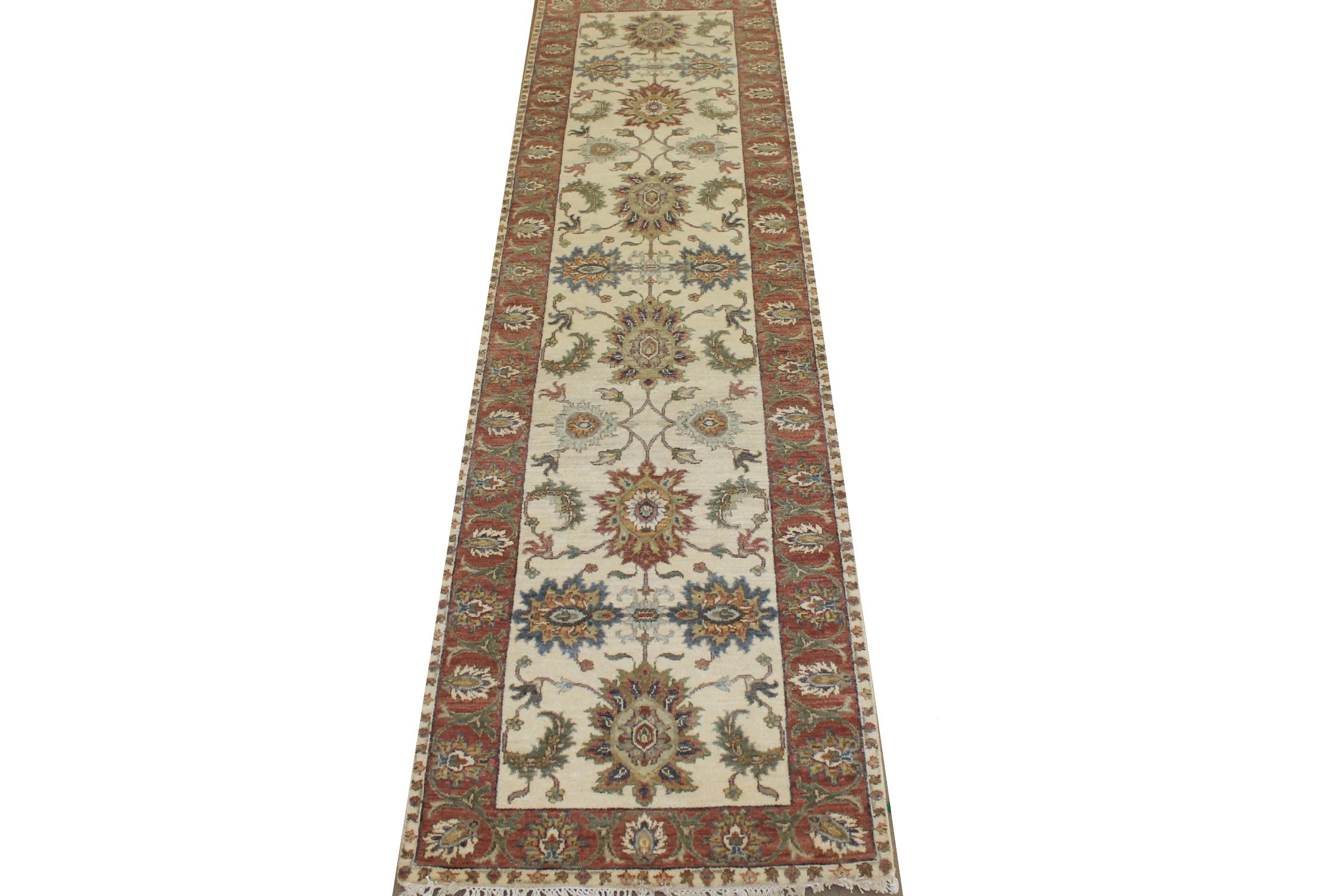 10 ft. Runner Traditional Hand Knotted Wool Area Rug - MR024777
