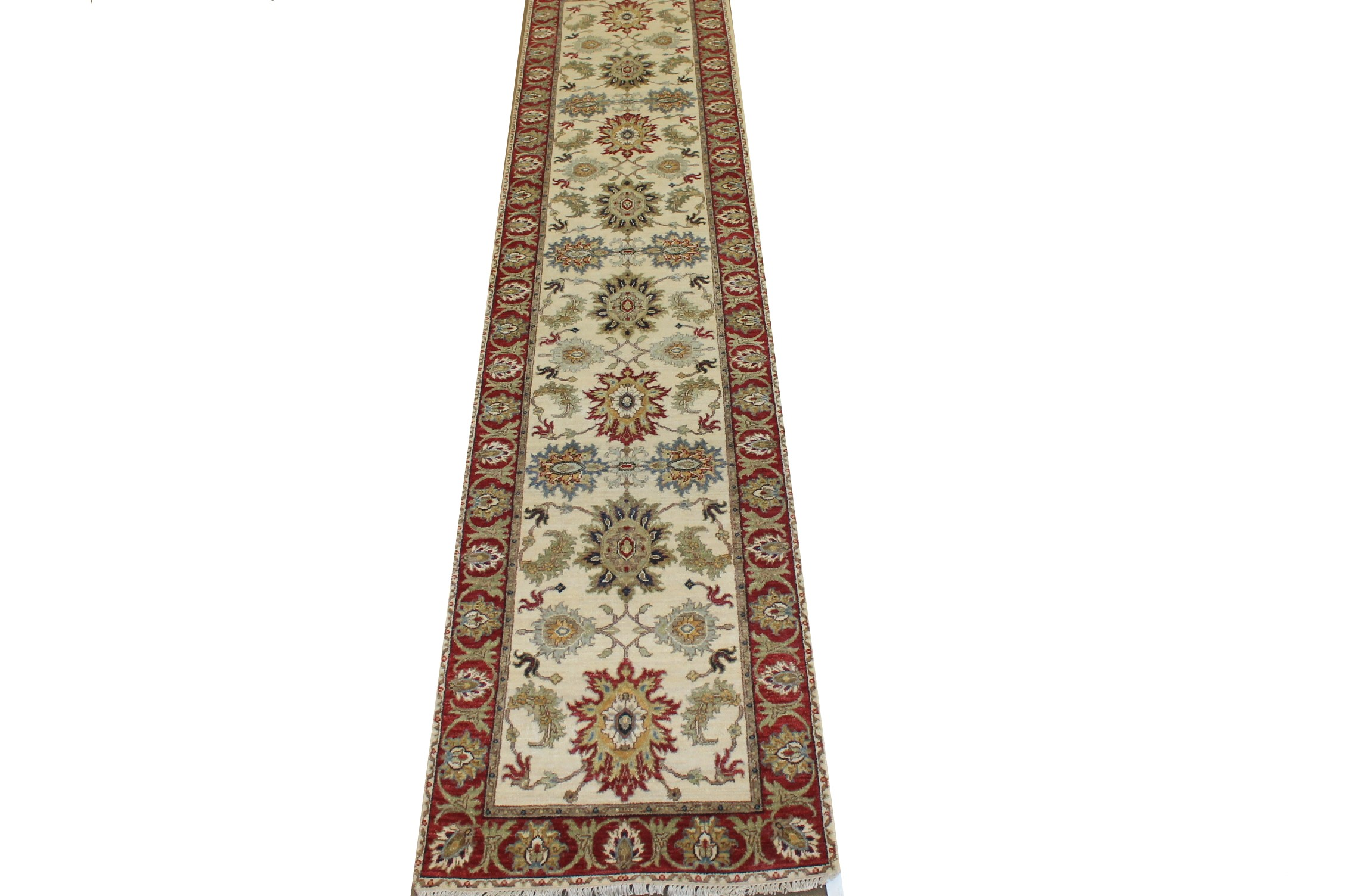 12 ft. Runner Traditional Hand Knotted Wool Area Rug - MR024779