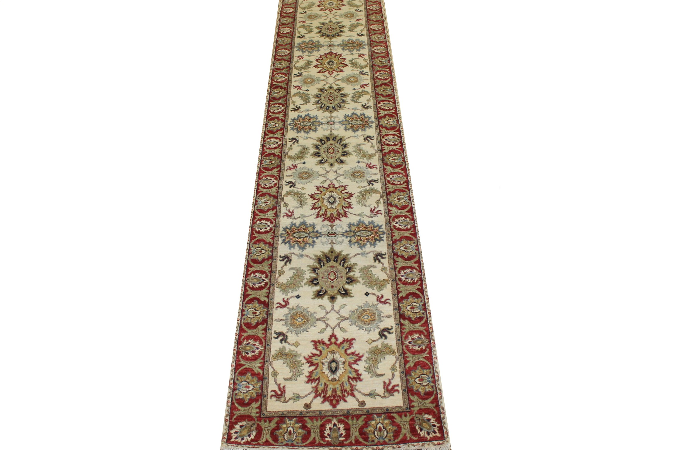 12 ft. Runner Traditional Hand Knotted Wool Area Rug - MR024780