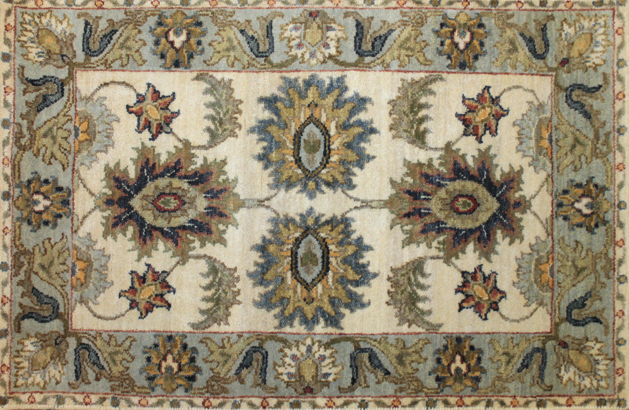 2X3 Traditional Hand Knotted Wool Area Rug - MR024793