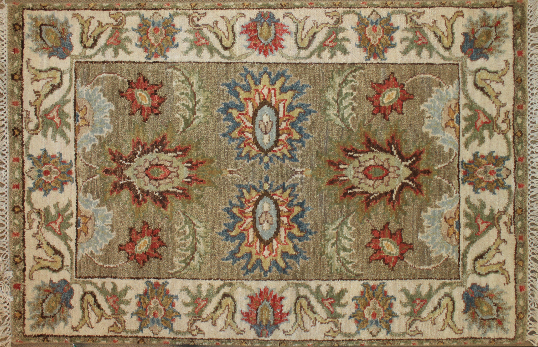 2X3 Traditional Hand Knotted Wool Area Rug - MR024797