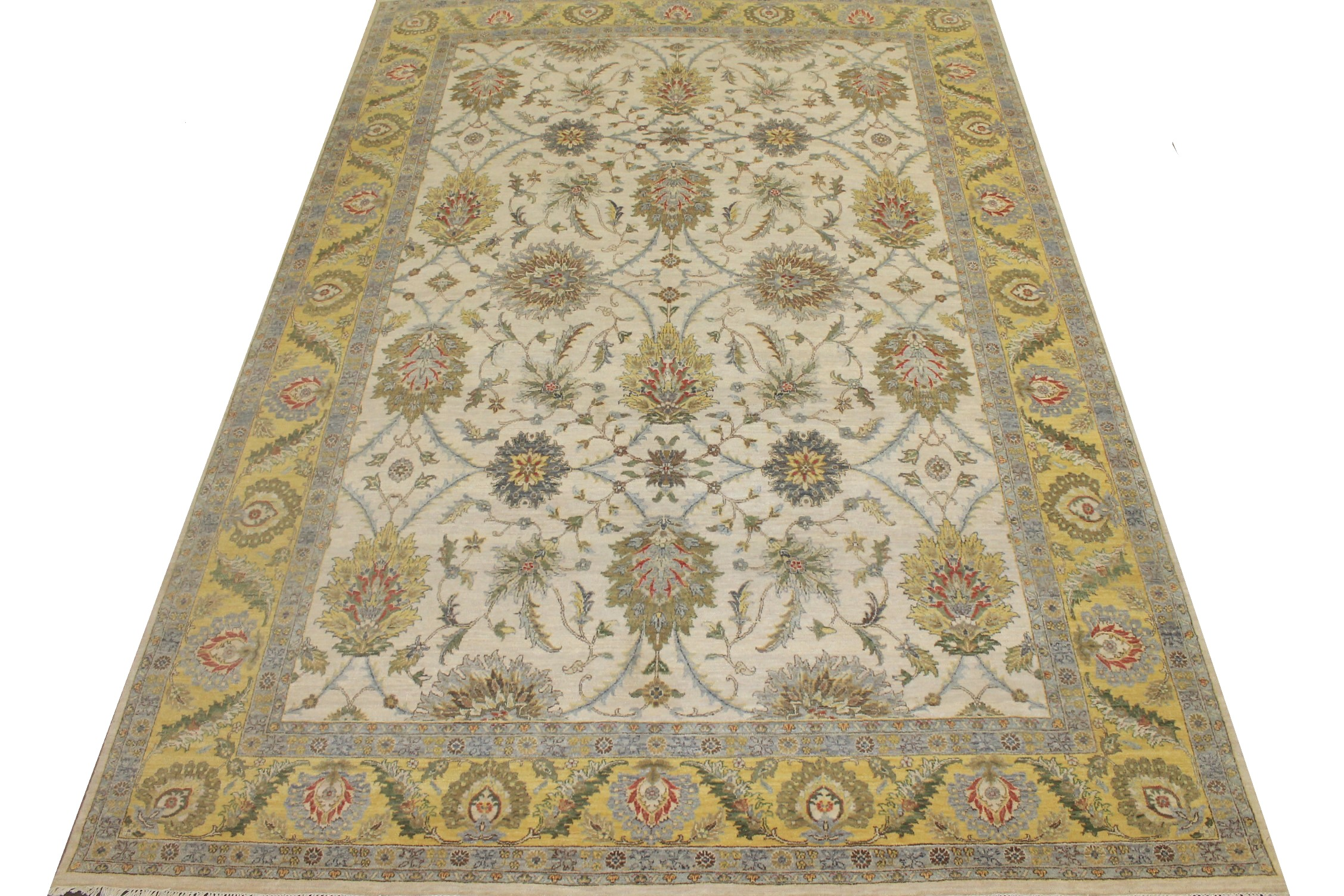9x12 Traditional Hand Knotted Wool Area Rug - MR024811