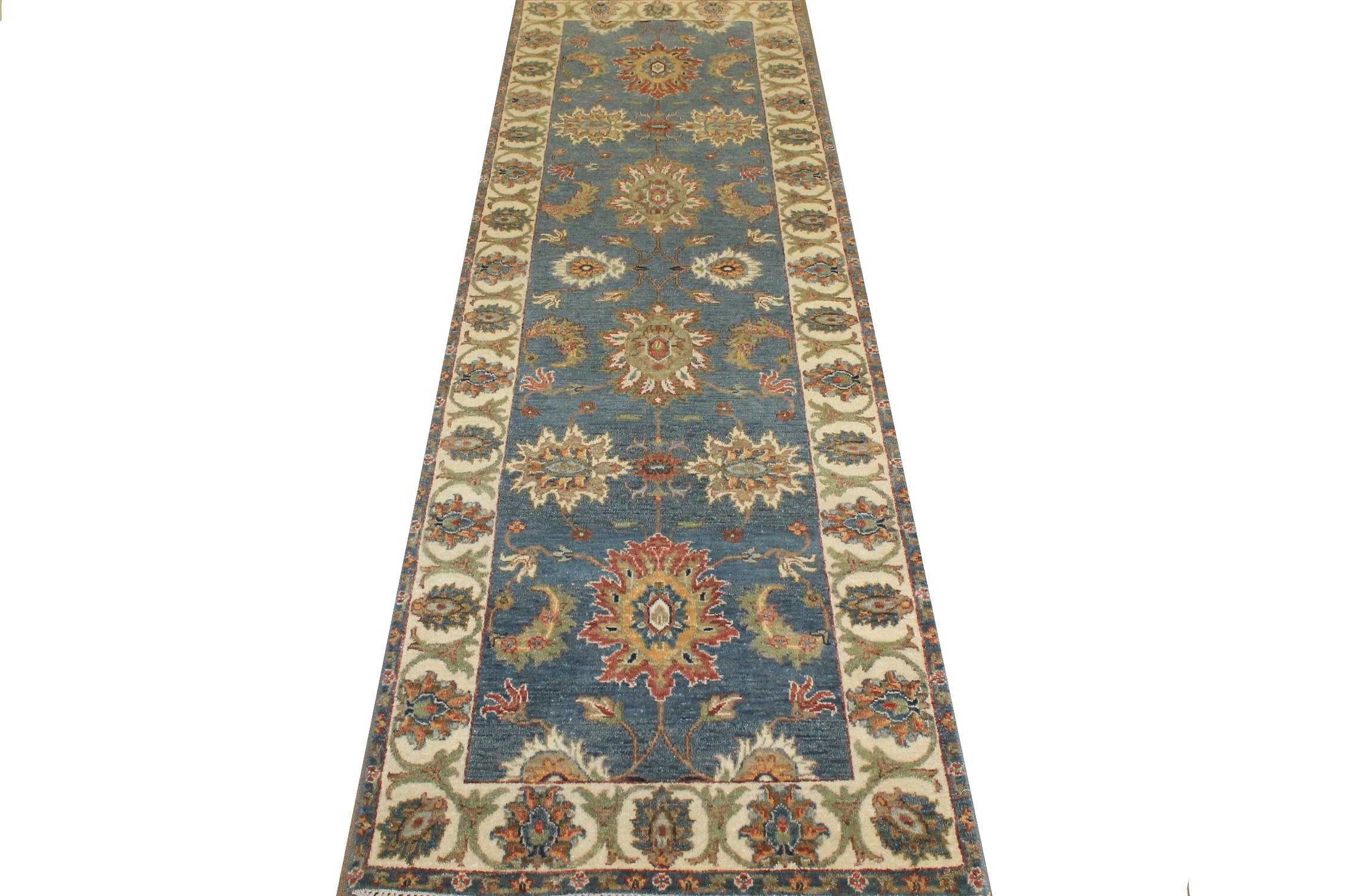 6 ft. Runner Traditional Hand Knotted Wool Area Rug - MR024816