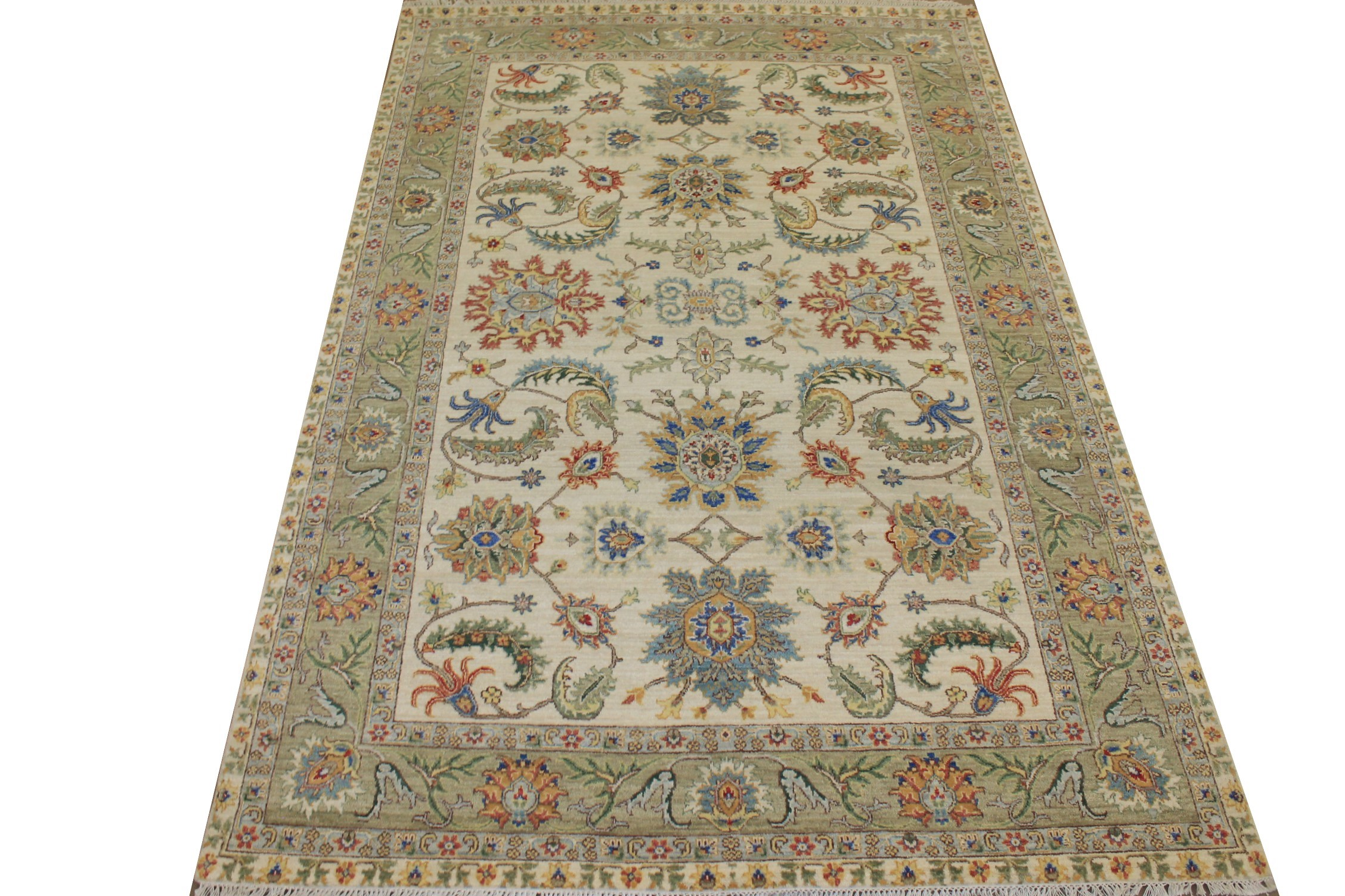 6x9 Traditional Hand Knotted Wool Area Rug - MR024820