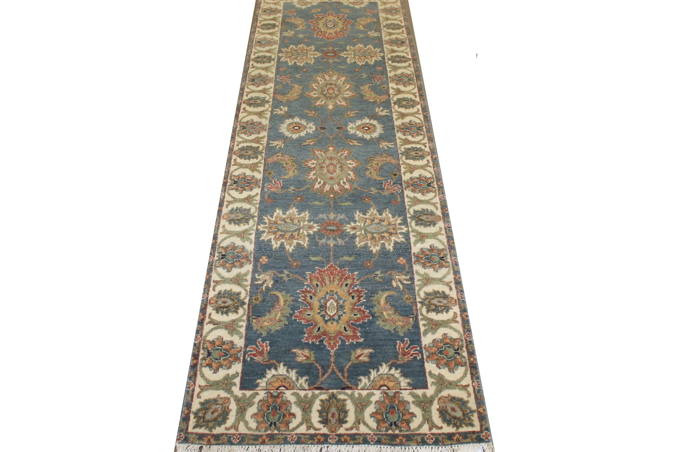 8 ft. Runner Traditional Hand Knotted Wool Area Rug - MR024835