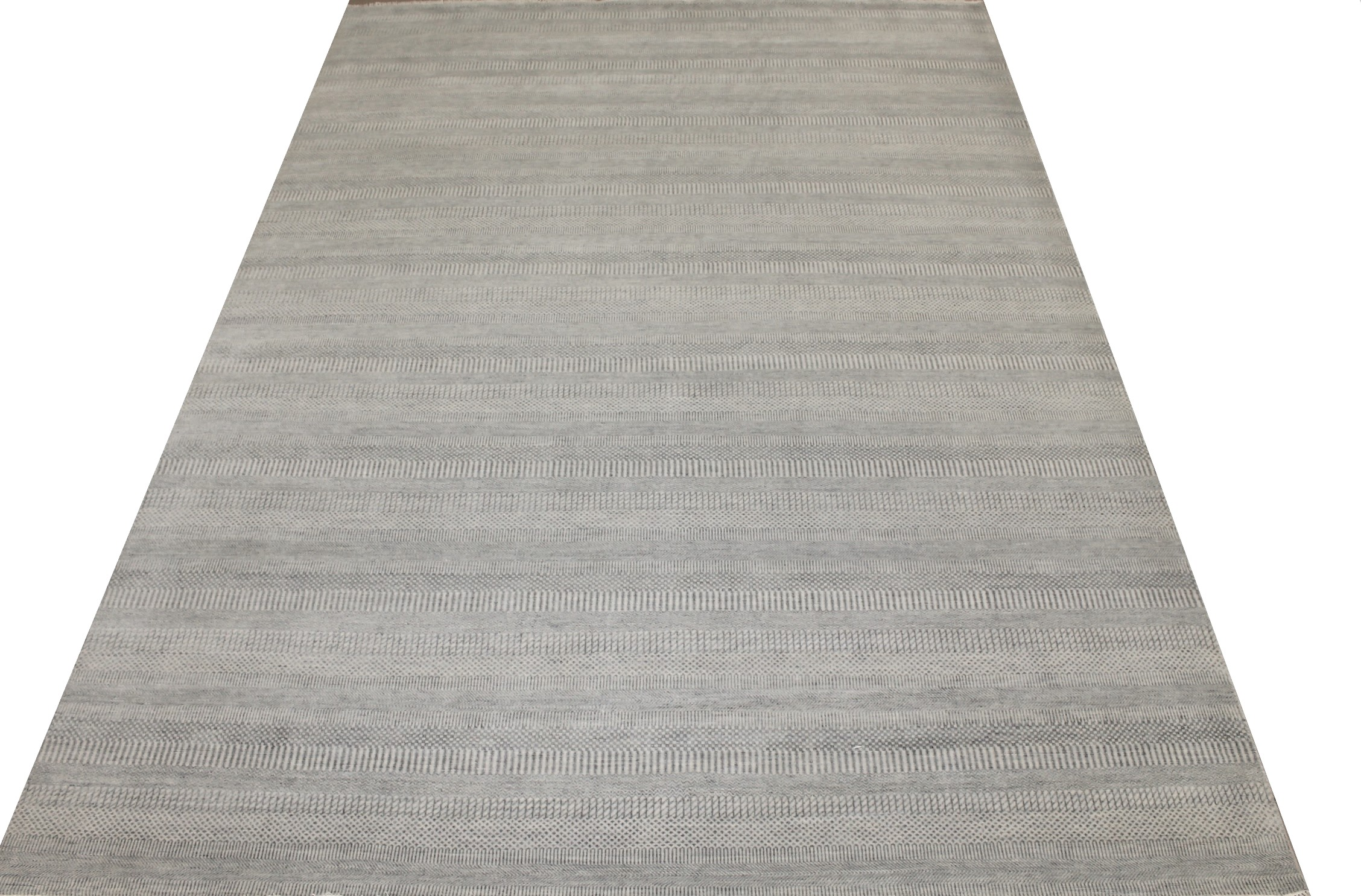 10x14 Casual Hand Knotted Wool & Bamboo Silk Area Rug - MR024861