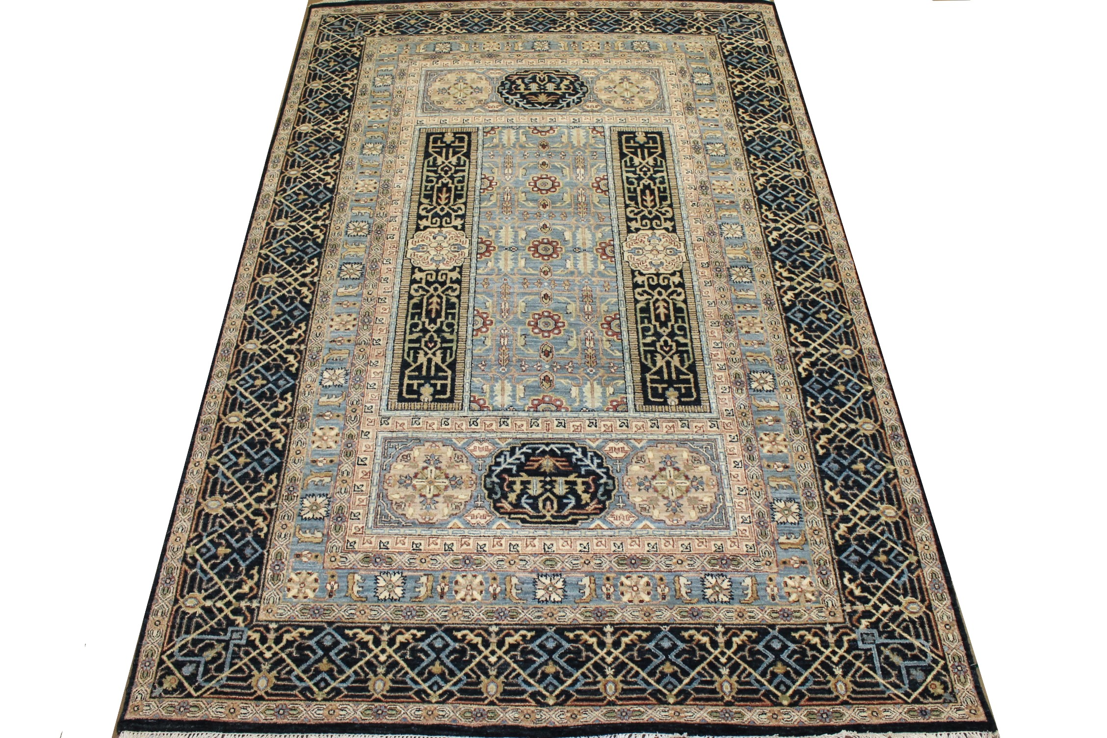 6x9 Traditional Hand Knotted Wool Area Rug - MR024863