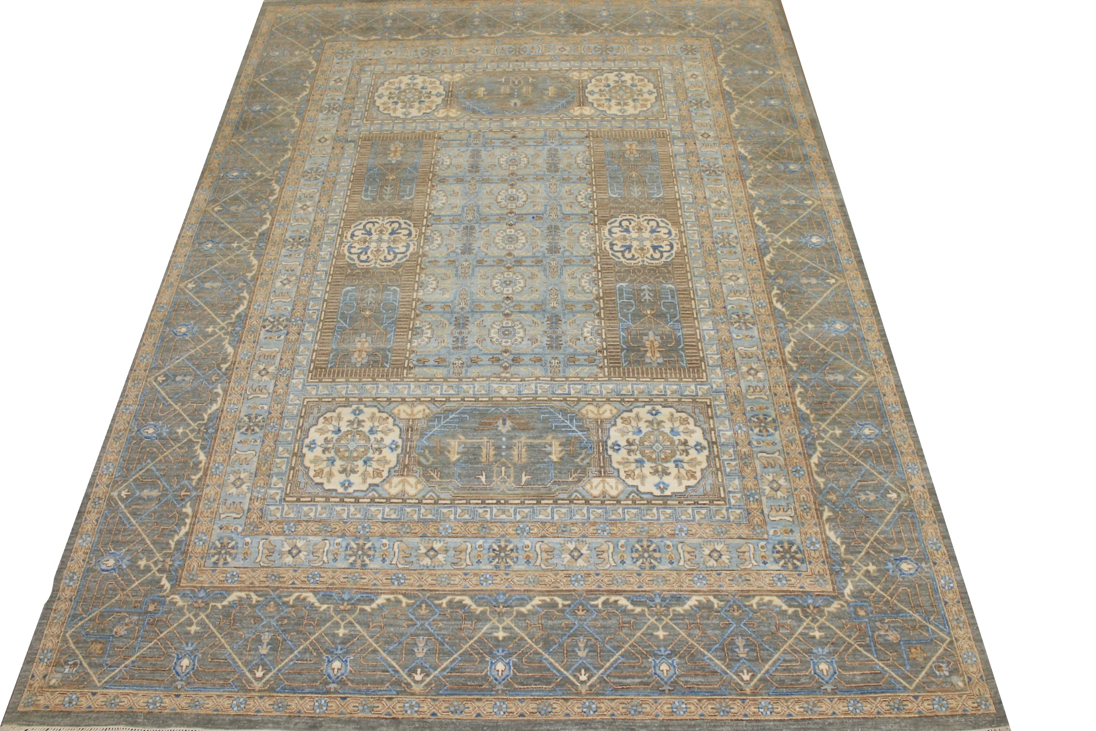 9x12 Traditional Hand Knotted Wool Area Rug - MR024866