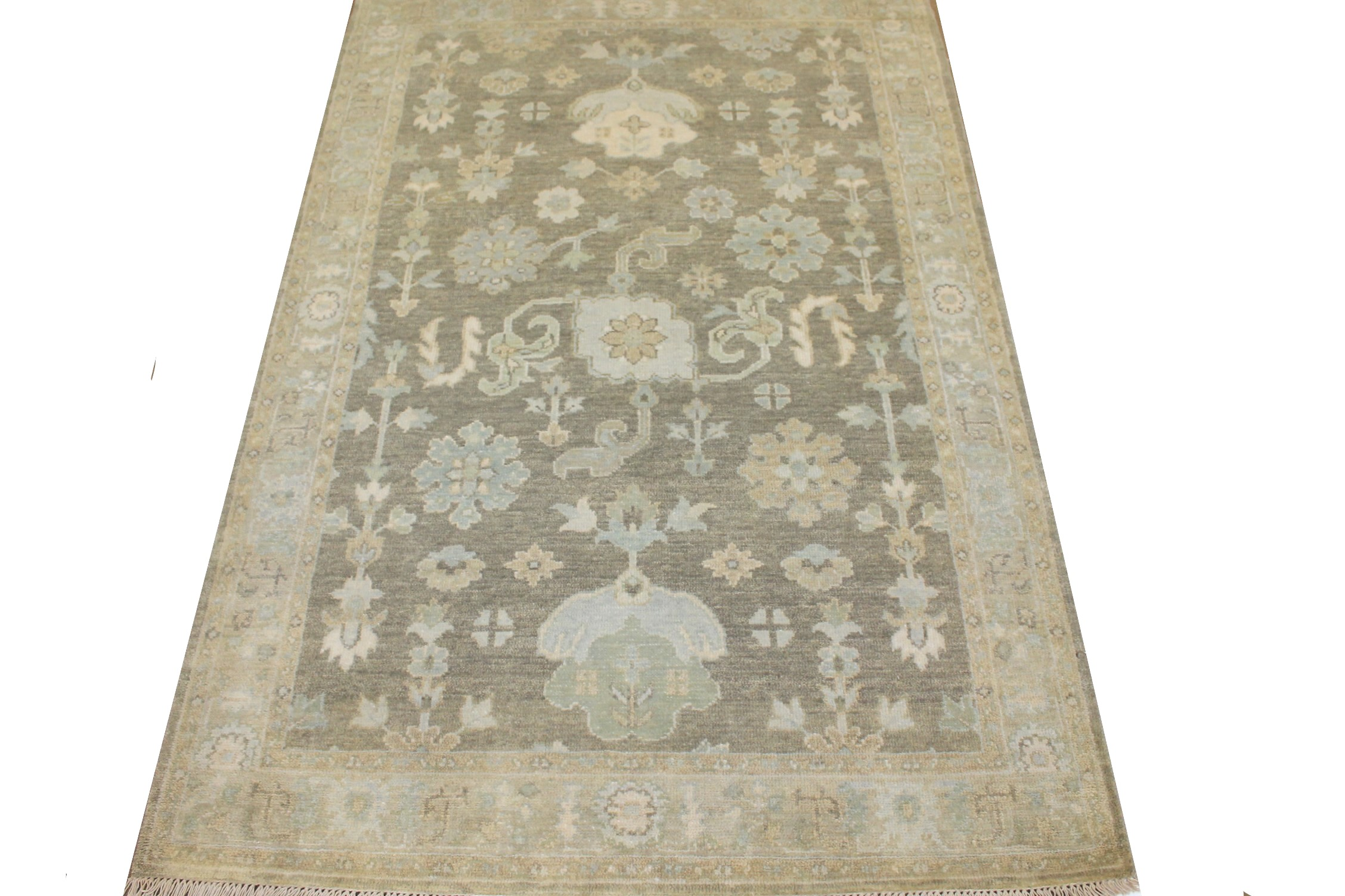 4x6 Oushak Hand Knotted Wool Area Rug - MR024882