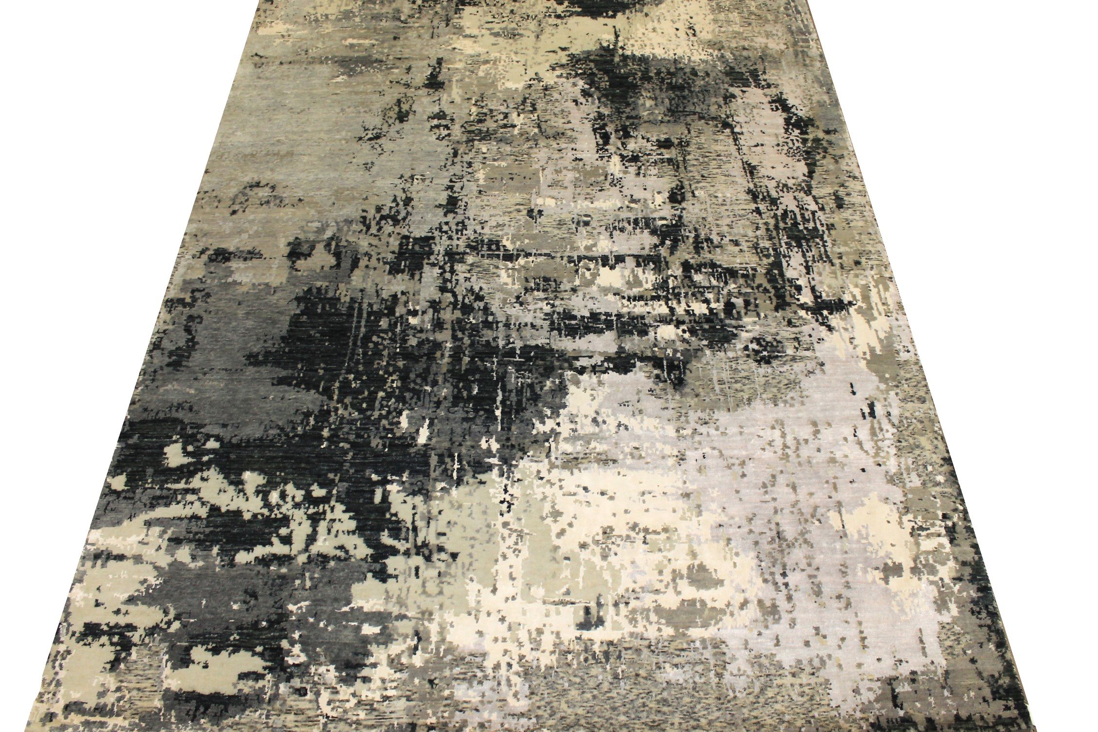 9x12 Modern Hand Knotted Wool & Bamboo Silk Area Rug - MR024883