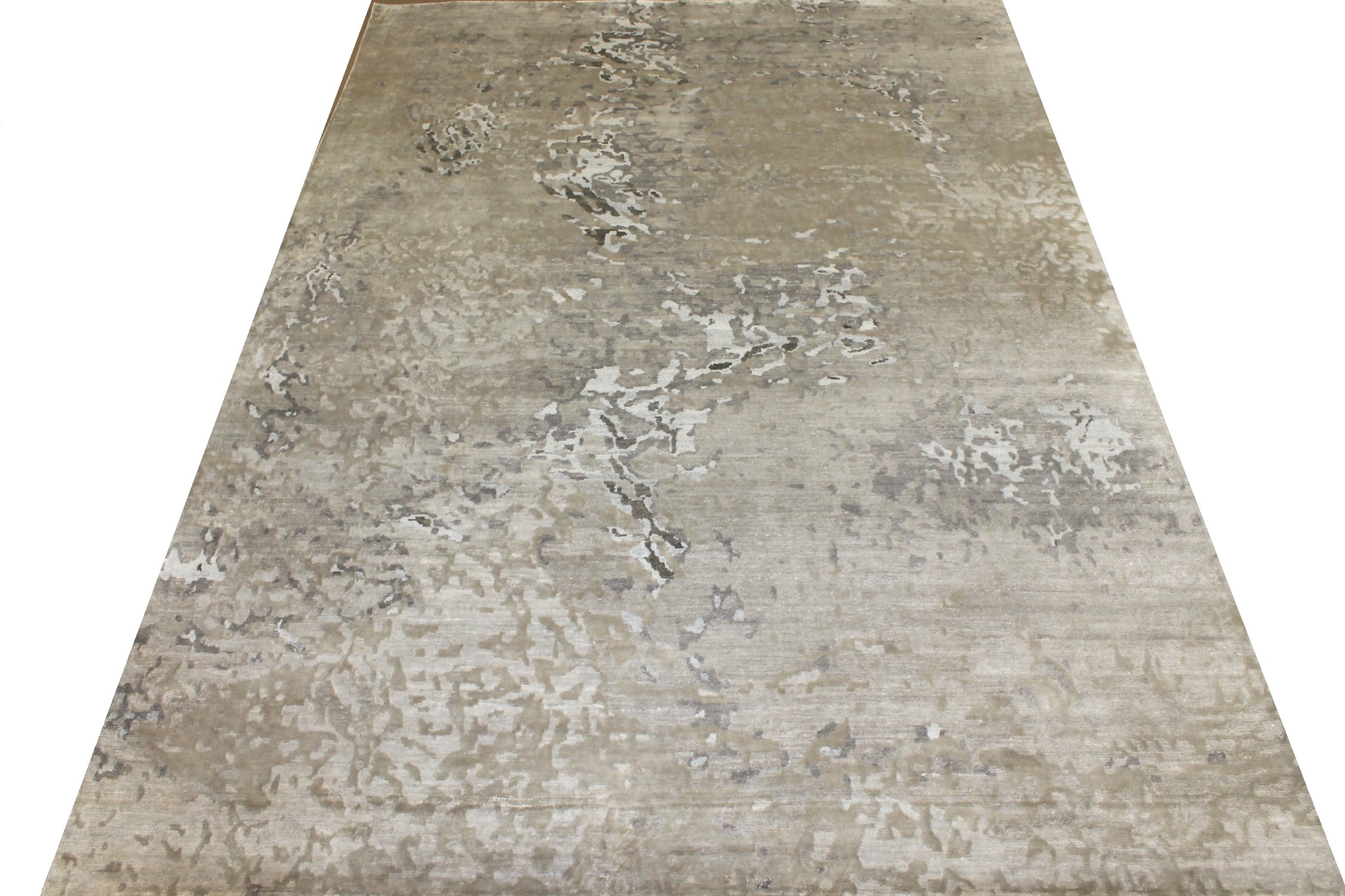 10x14 Modern Hand Knotted Wool & Bamboo Silk Area Rug - MR024884