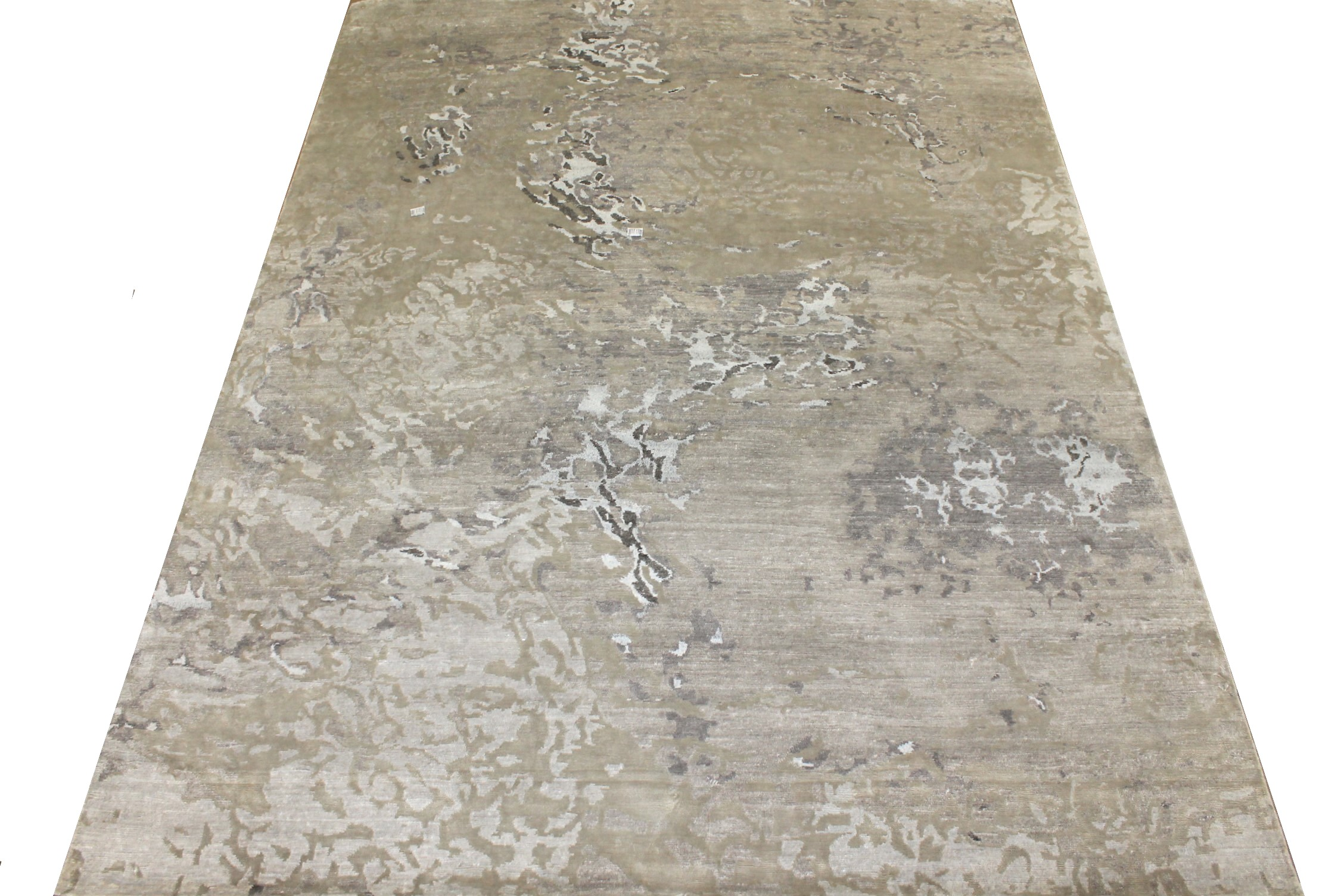 8x10 Modern Hand Knotted Wool & Bamboo Silk Area Rug - MR024886