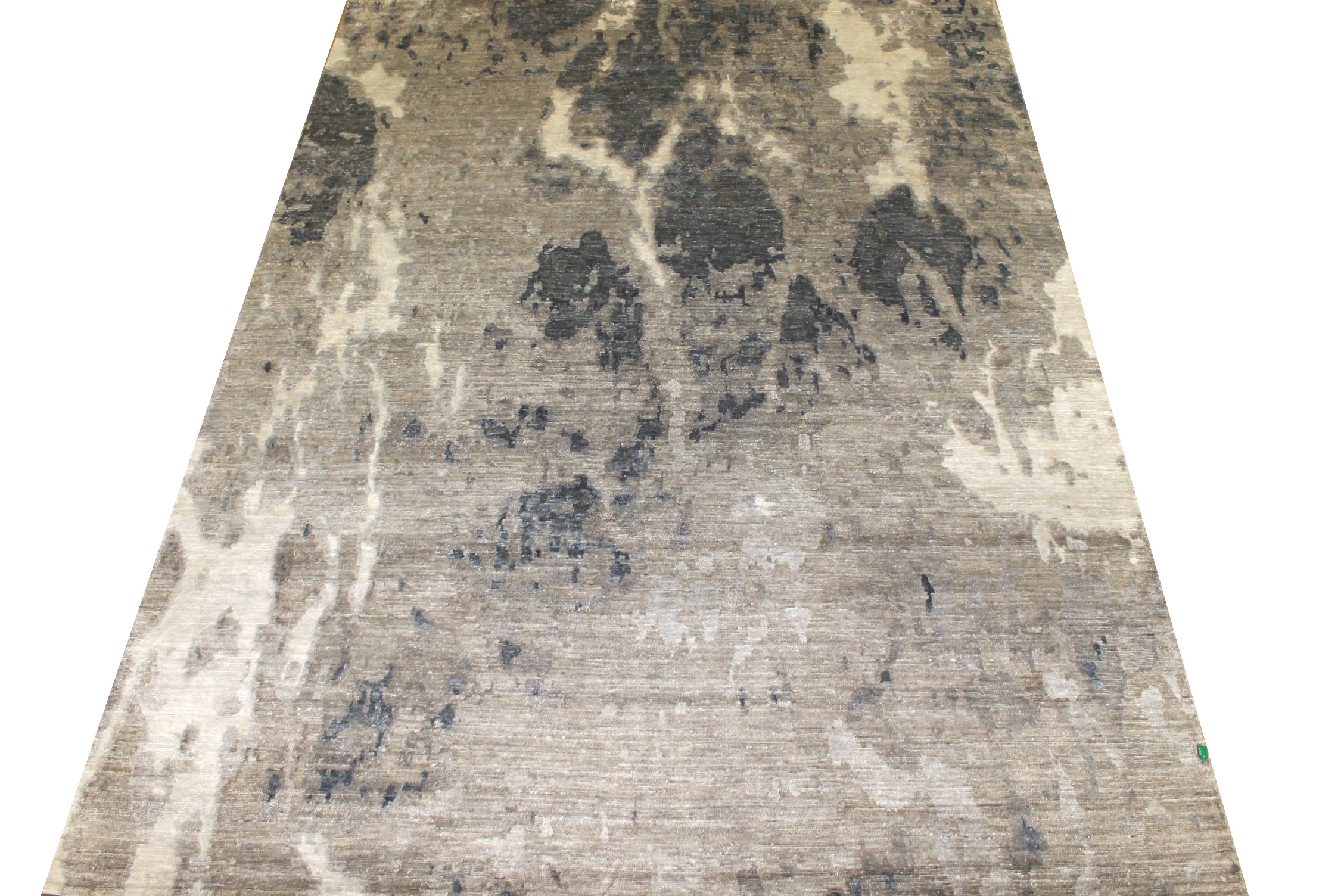 9x12 Modern Hand Knotted Wool & Bamboo Silk Area Rug - MR024887