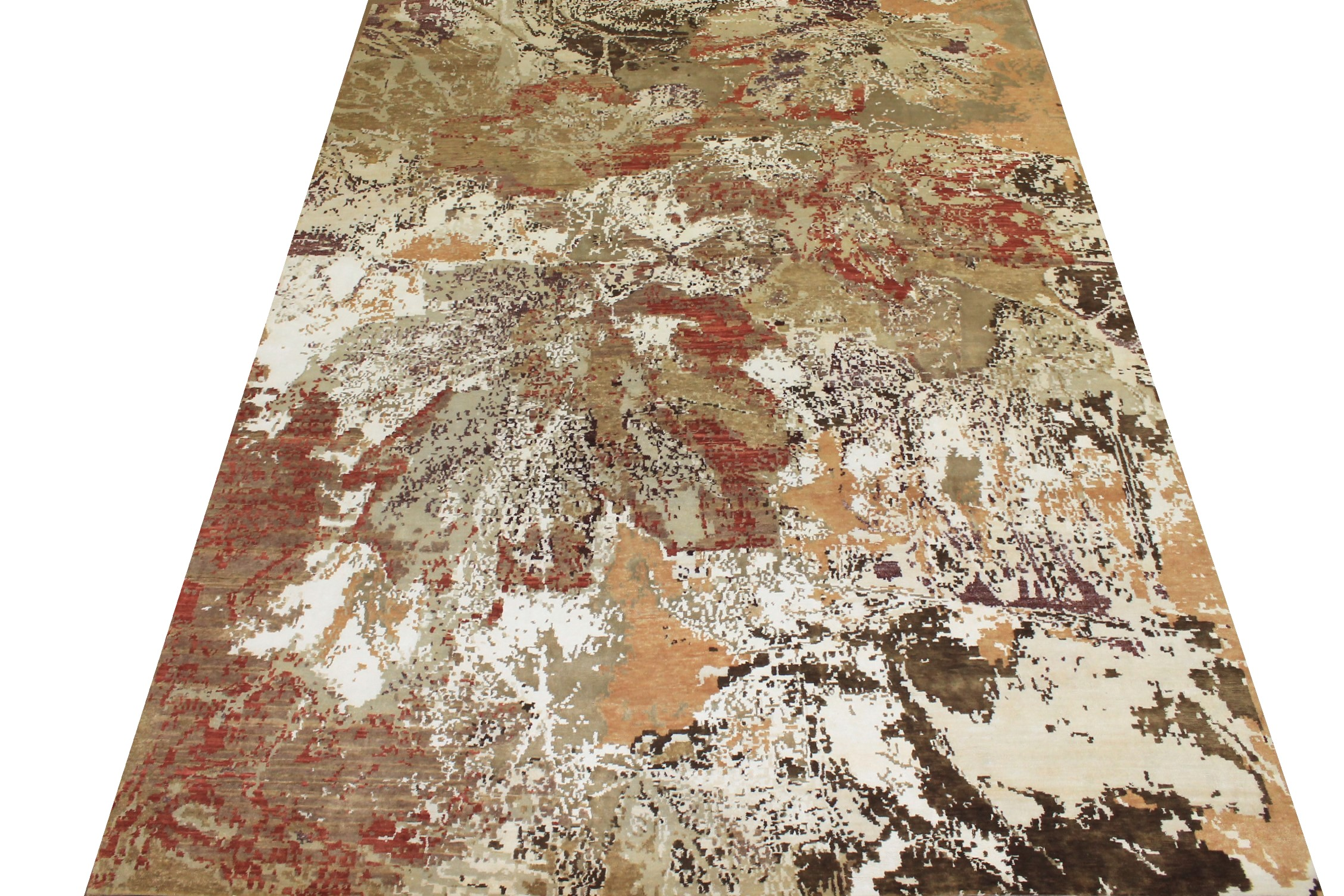 9x12 Modern Hand Knotted Wool & Bamboo Silk Area Rug - MR024888