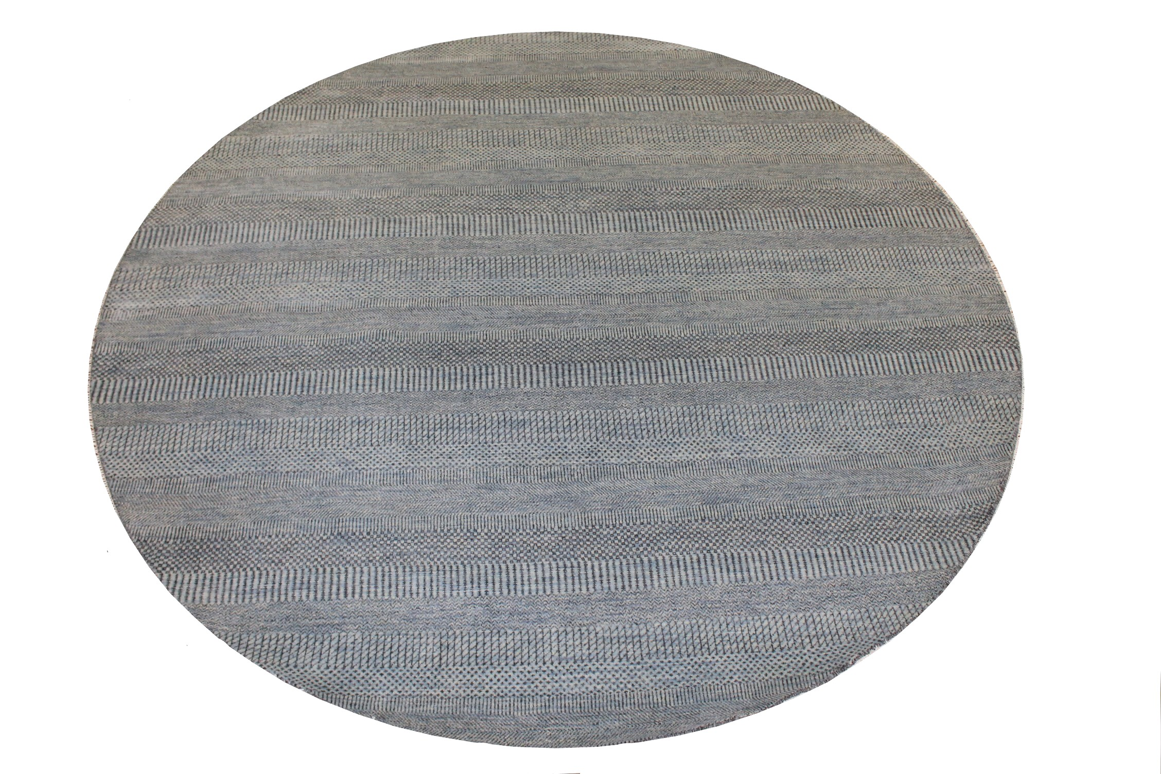 8 ft. Round & Square Casual Hand Knotted Wool & Viscose Area Rug - MR024925