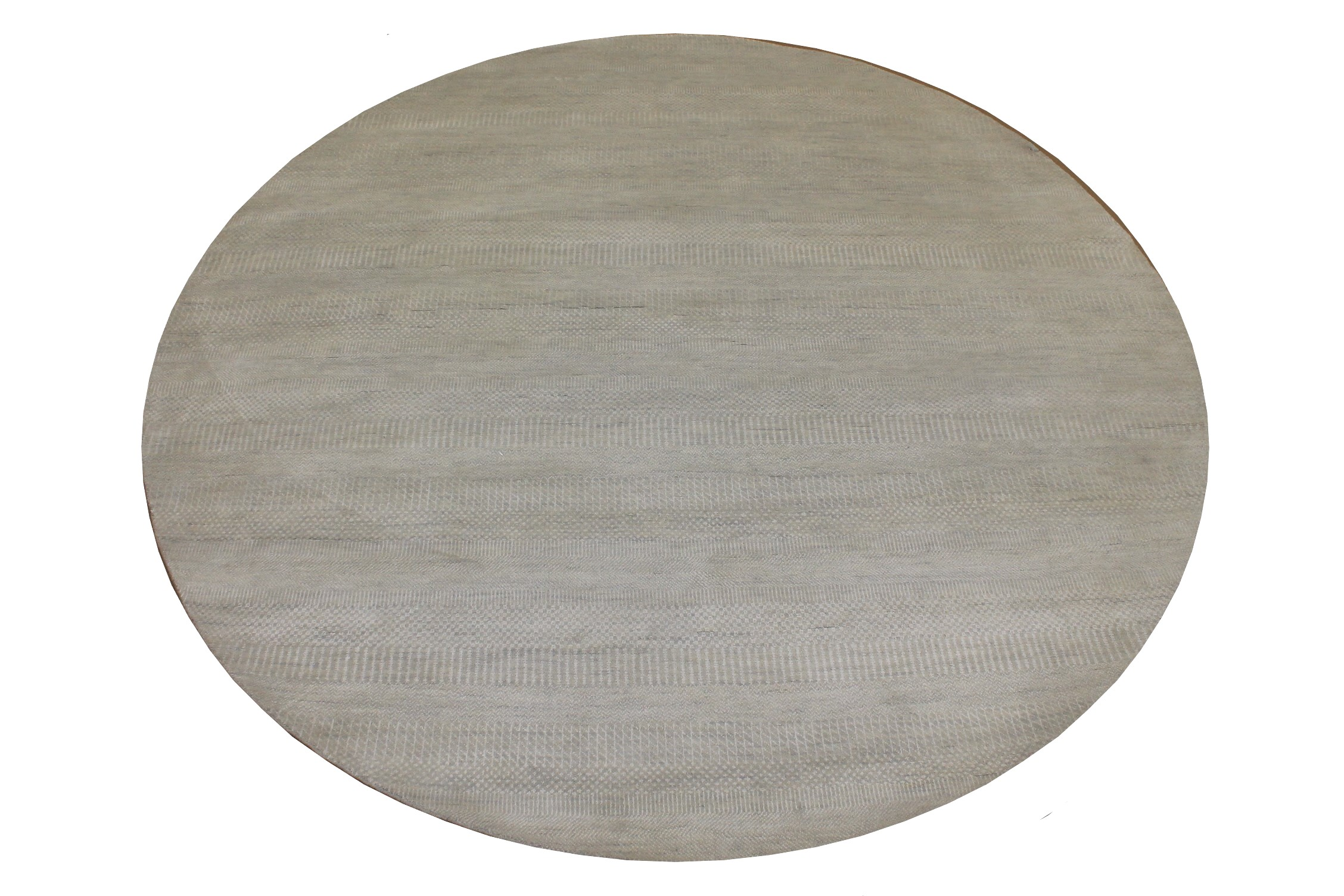 8 ft. Round & Square Casual Hand Knotted Wool & Viscose Area Rug - MR024926