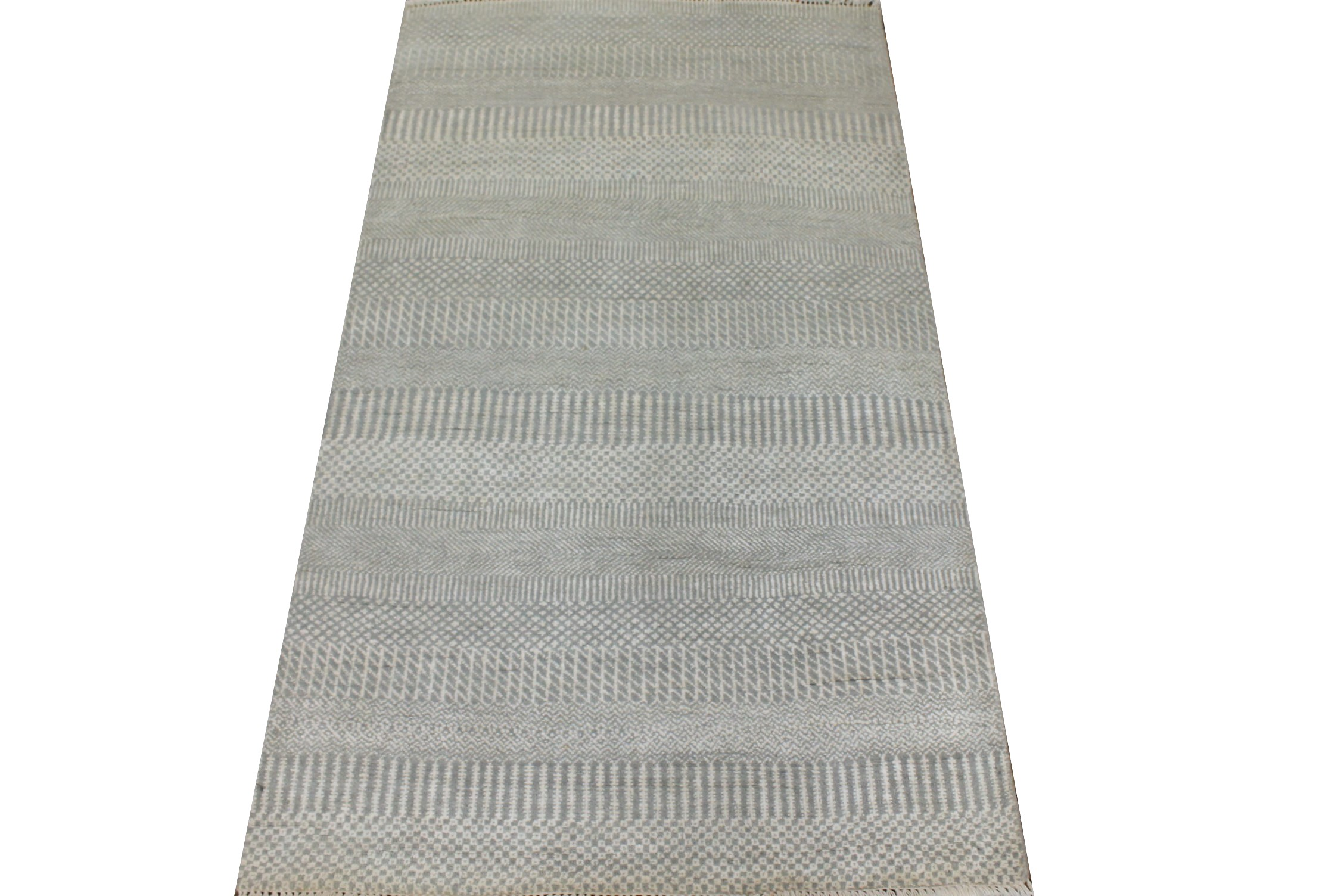 3x5 Casual Hand Knotted Wool & Viscose Area Rug - MR024936