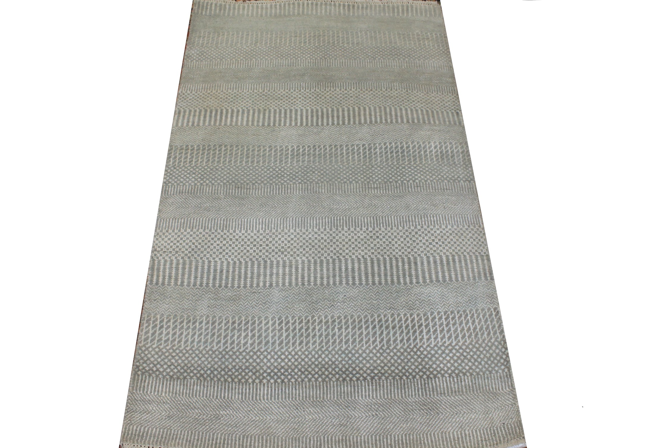 3x5 Casual Hand Knotted Wool & Viscose Area Rug - MR024937