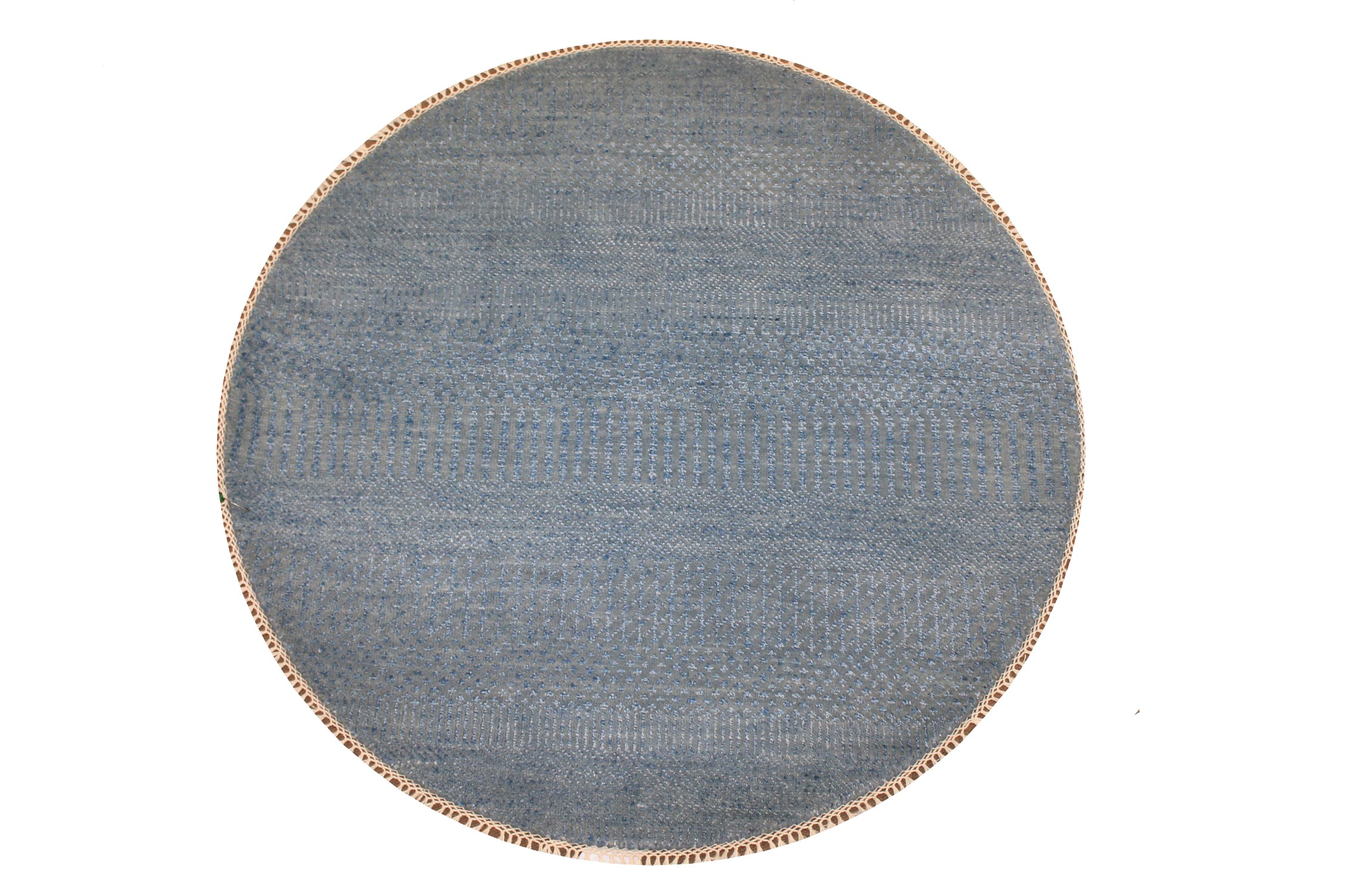 3 ft. Round & Square Casual Hand Knotted Wool & Viscose Area Rug - MR024938